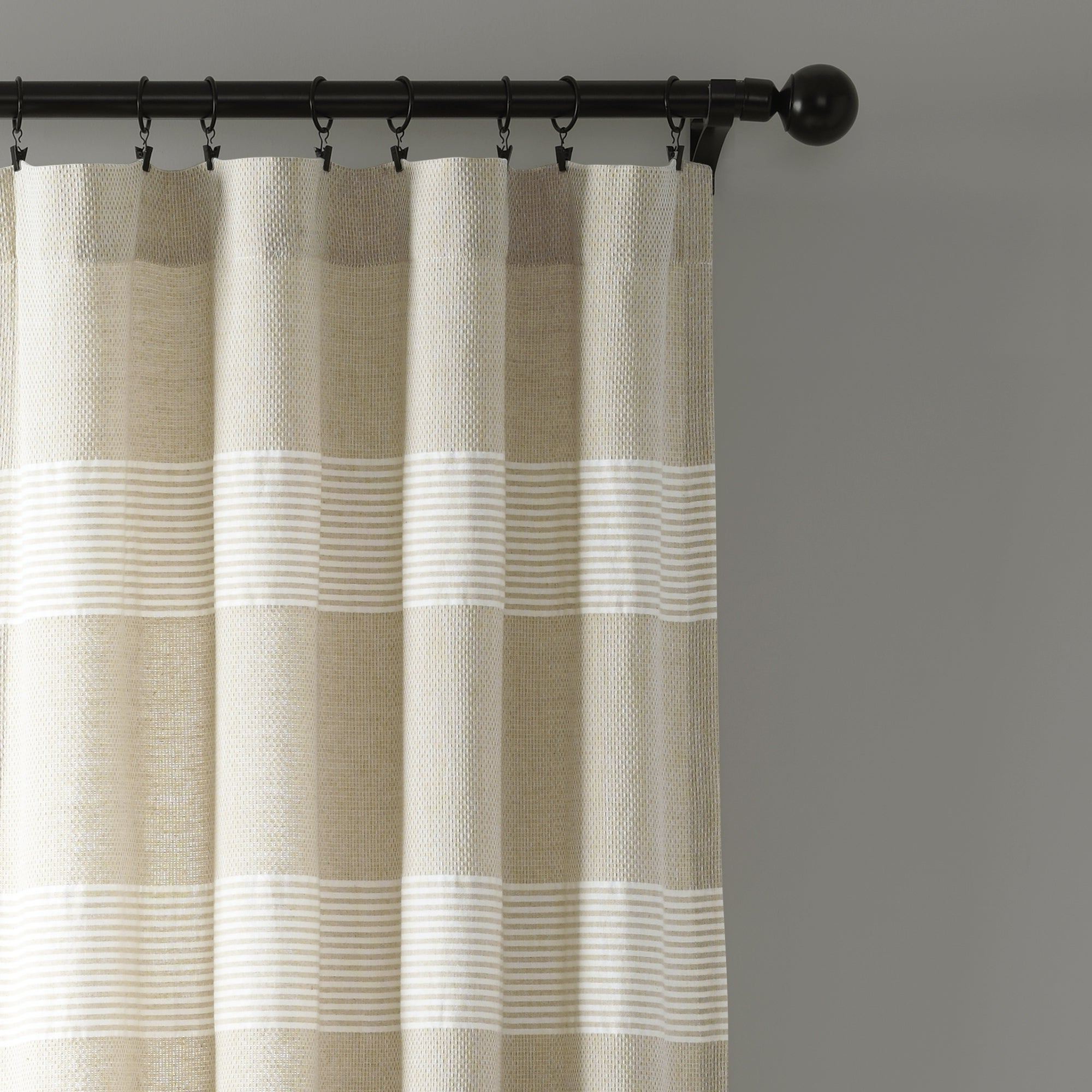 Current Lush Decor Tucker Stripe Yarn Dyed Cotton Knotted Tassel Window Curtain  Panel Pair Within Ombre Stripe Yarn Dyed Cotton Window Curtain Panel Pairs (View 5 of 20)