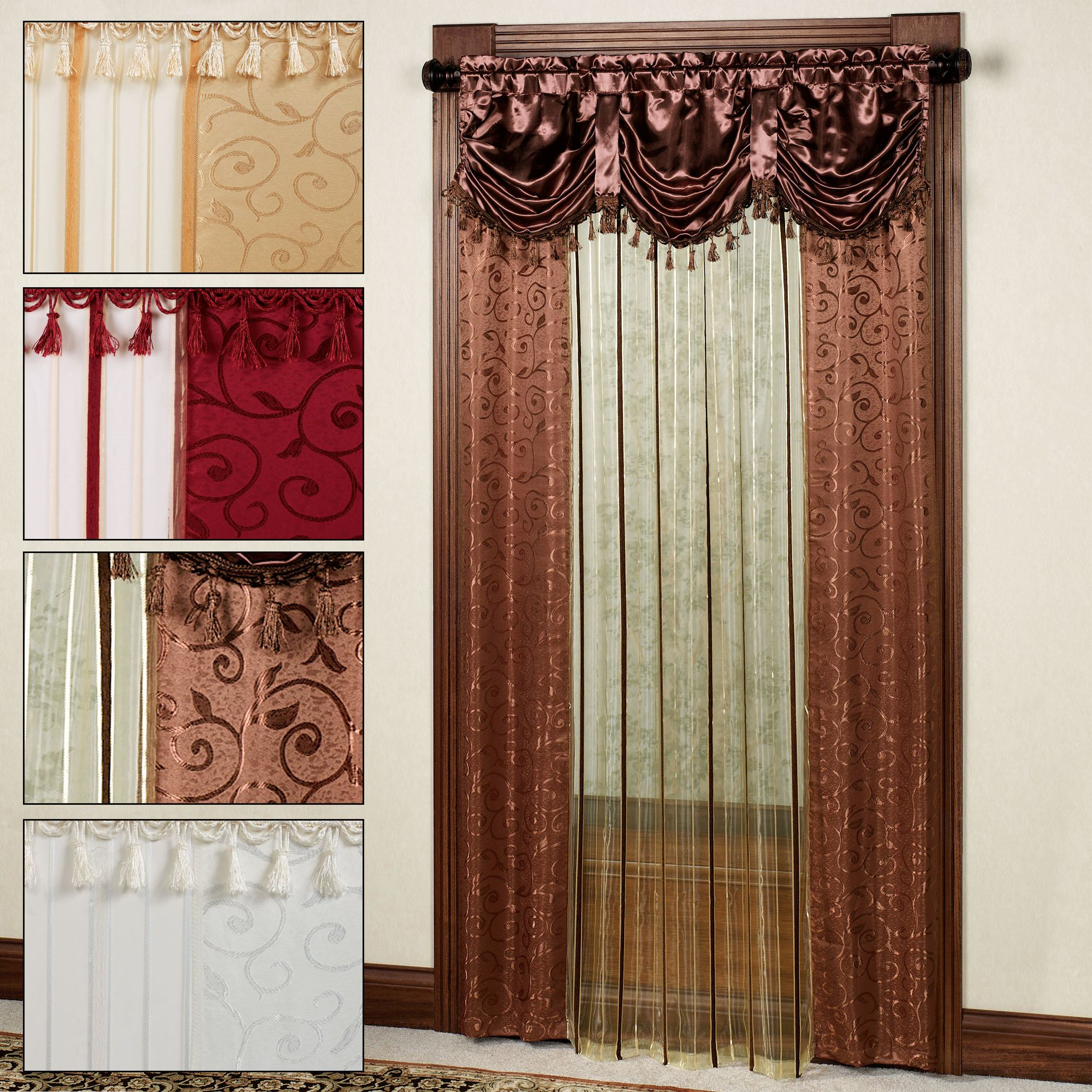 Current Modern Sheer Curtain Panels With Designs – Creative Design Ideas Throughout Laya Fretwork Burnout Sheer Curtain Panels (View 9 of 20)