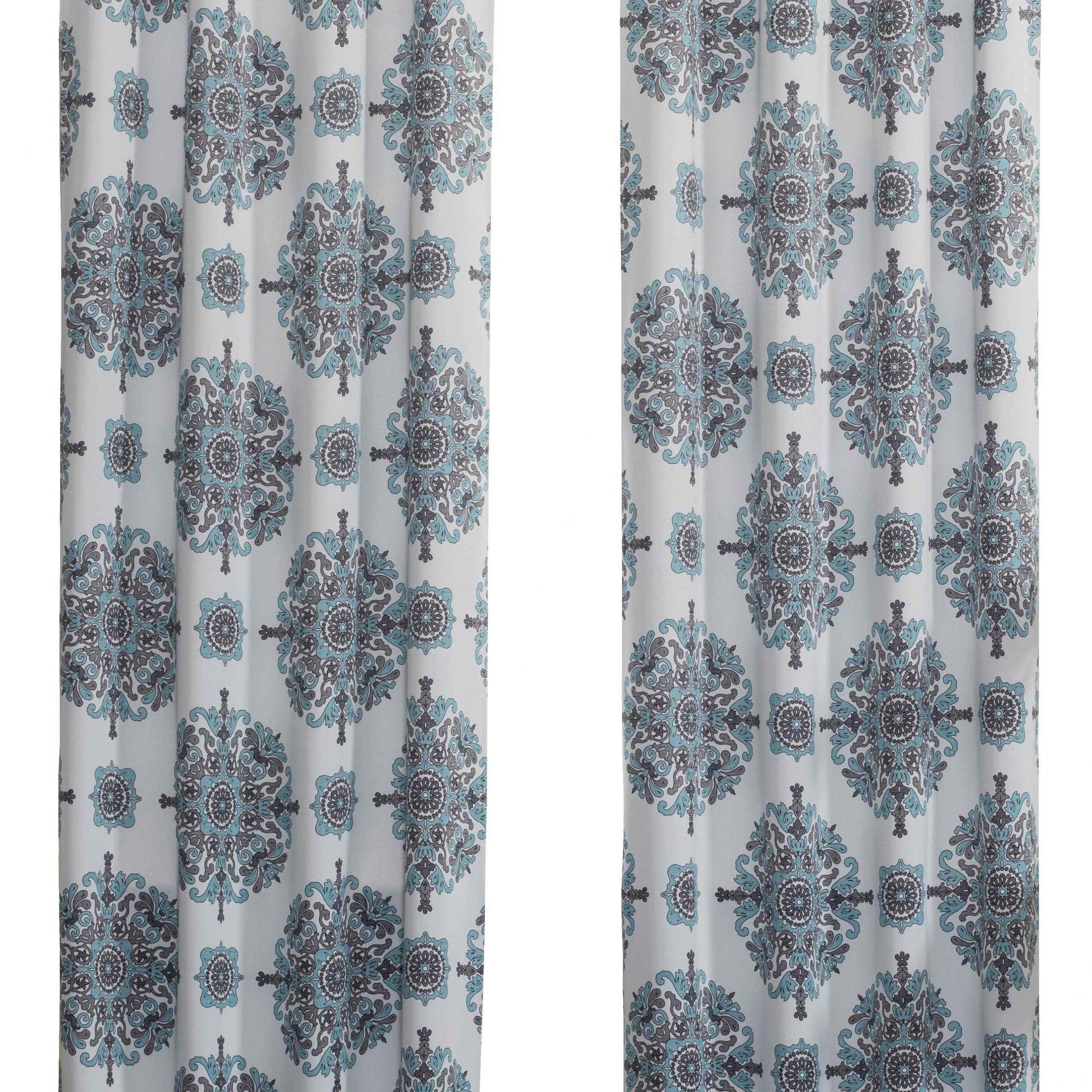 Current Pastel Damask Printed Room Darkening Grommet Window Curtain Panel Pairs Intended For Wycombe Damask Room Darkening Rod Pocket Single Curtain Panel (View 18 of 20)