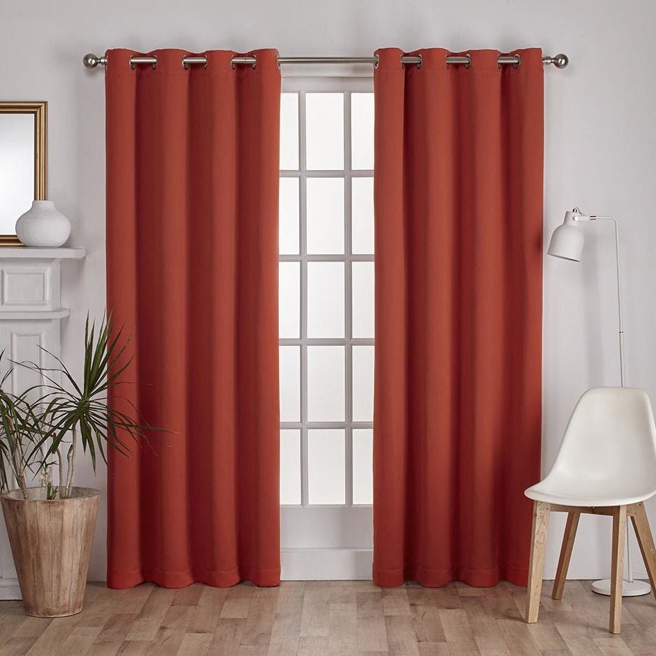 Featured Photo of Sateen Twill Weave Insulated Blackout Window Curtain Panel Pairs