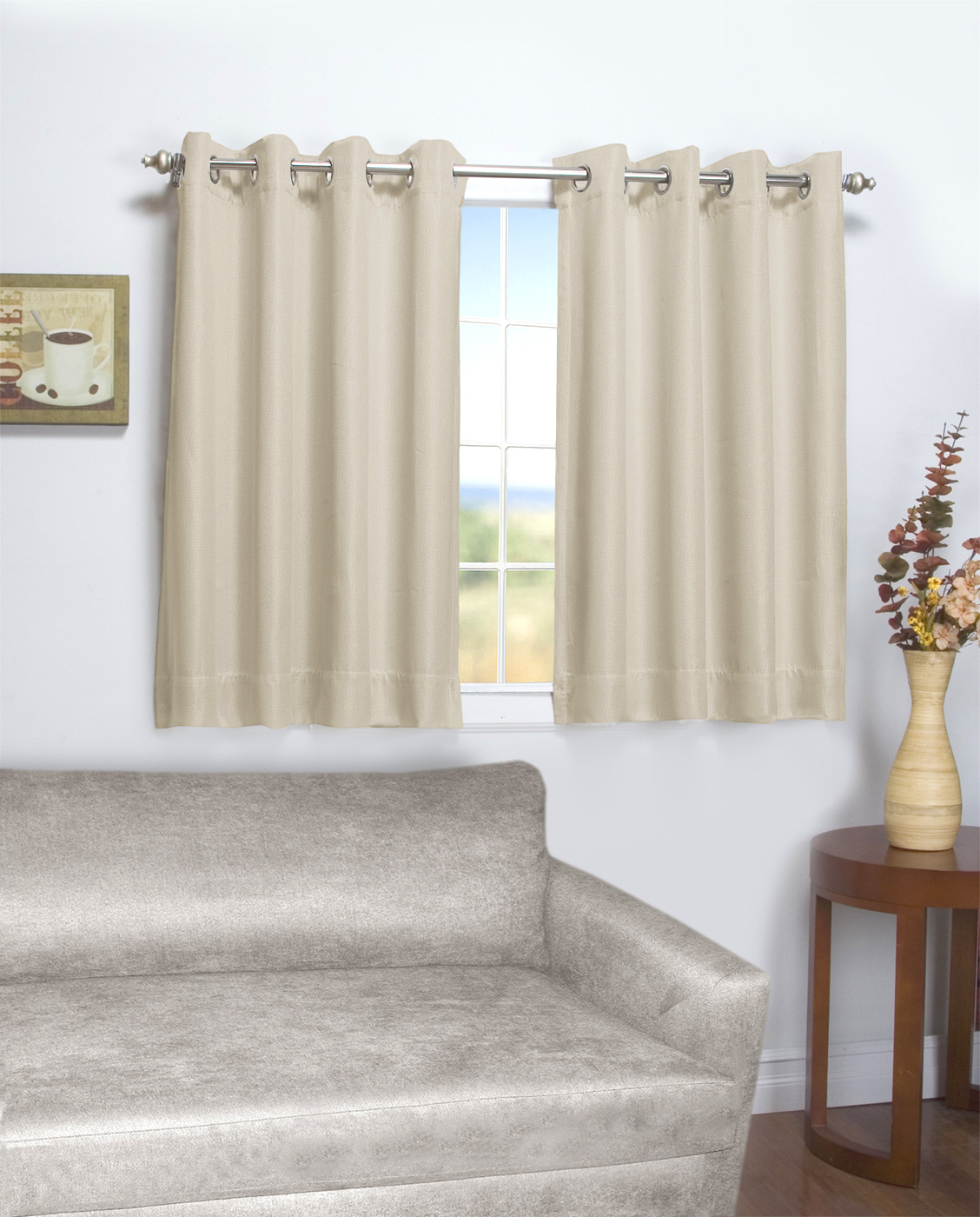 Current Ultimate Blackout Short Length Grommet Panels In 45 Inch Long Curtains – Thecurtainshop (View 10 of 20)