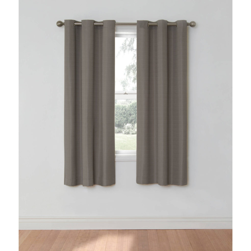 Curtain ~ 34edf0c3d0a4 1 Walmart Blackoutins Mainstays Room Regarding Most Popular Silvertone Grommet Thermal Insulated Blackout Curtain Panel Pairs (View 17 of 20)