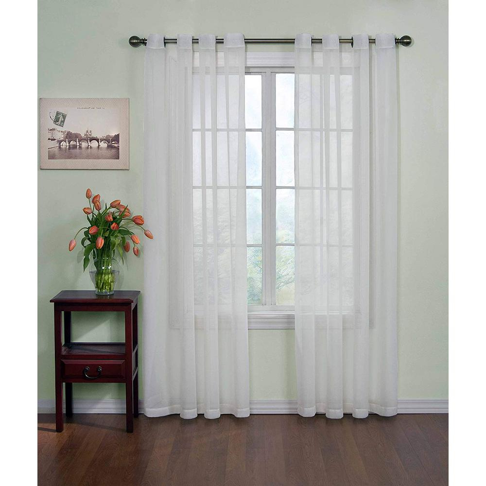 Curtain Fresh Arm And Hammer Odor Neutralizing Sheer Window Curtain Panel In White – 59 In. W X 84 In (View 5 of 20)