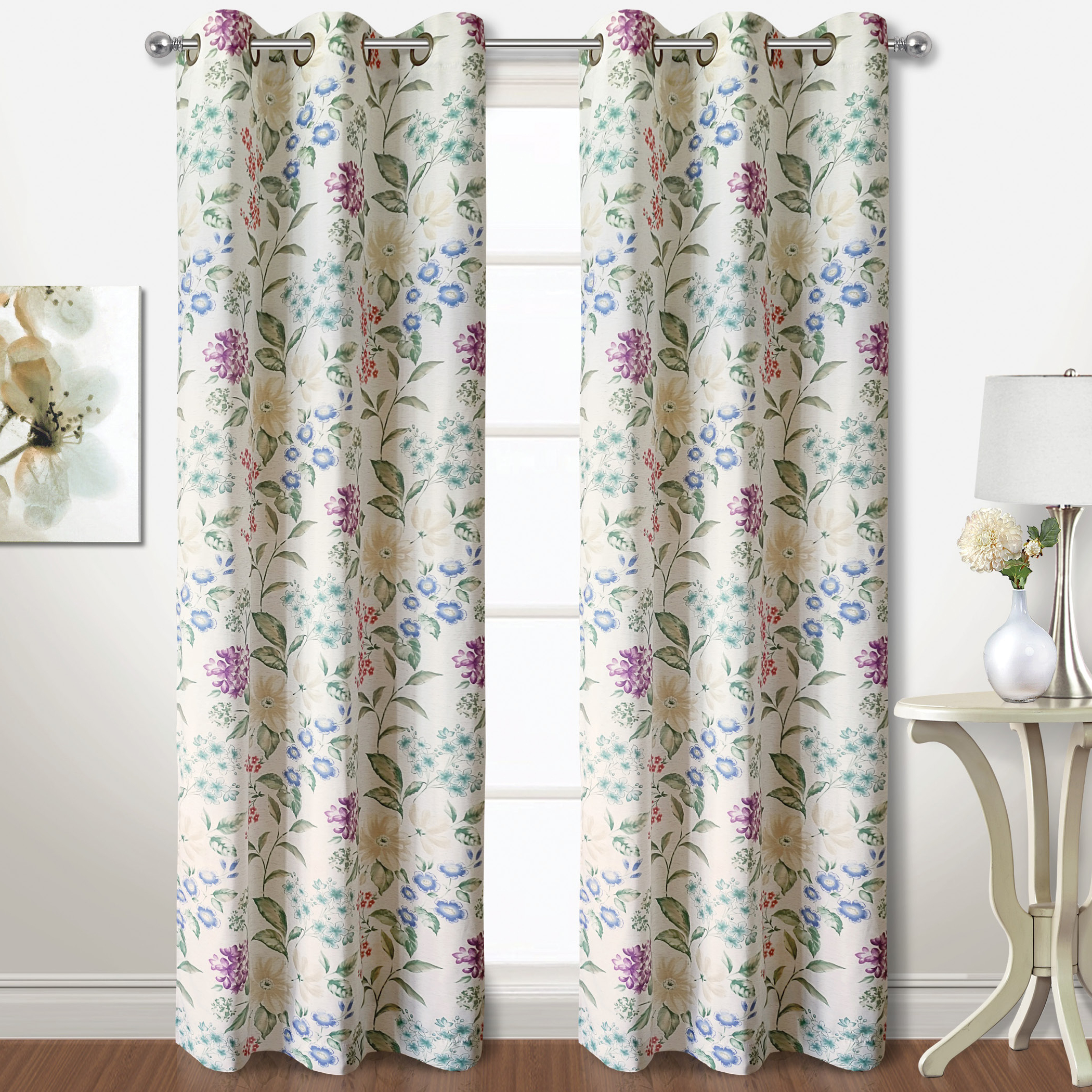 Curtain Panel Pairs Inside Newest Christine Floral Curtain Panel Pairs (View 10 of 20)