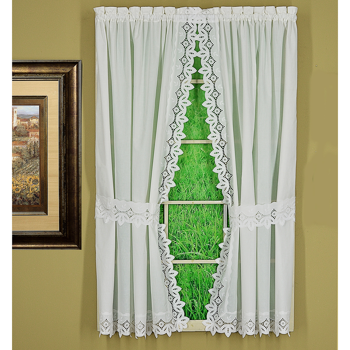 Curtain Panel Pairs With Preferred Heirloom Embroidered Curtain Panel Pairs (View 8 of 20)