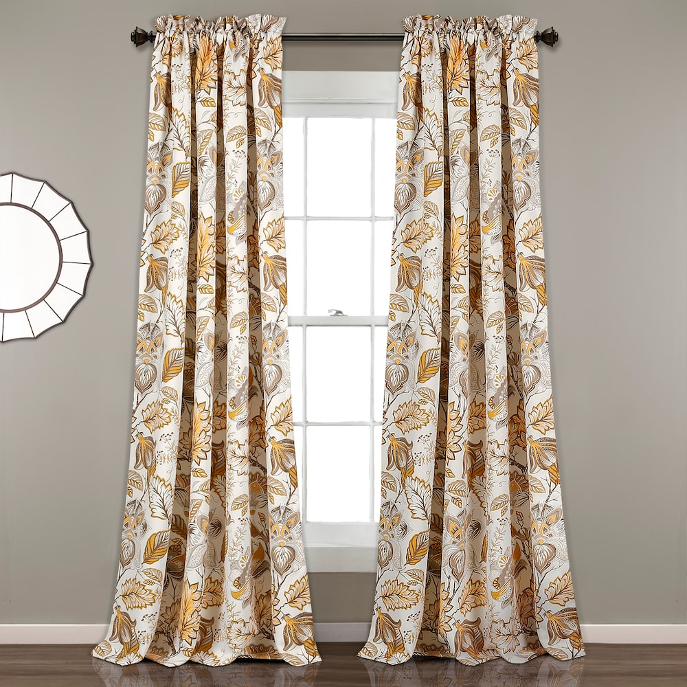Cynthia Jacobean Room Darkening Curtain Panel Pairs Pertaining To Current Lush Decor 2 Pack Cynthia Jacobean Room Darkening Window (View 5 of 20)