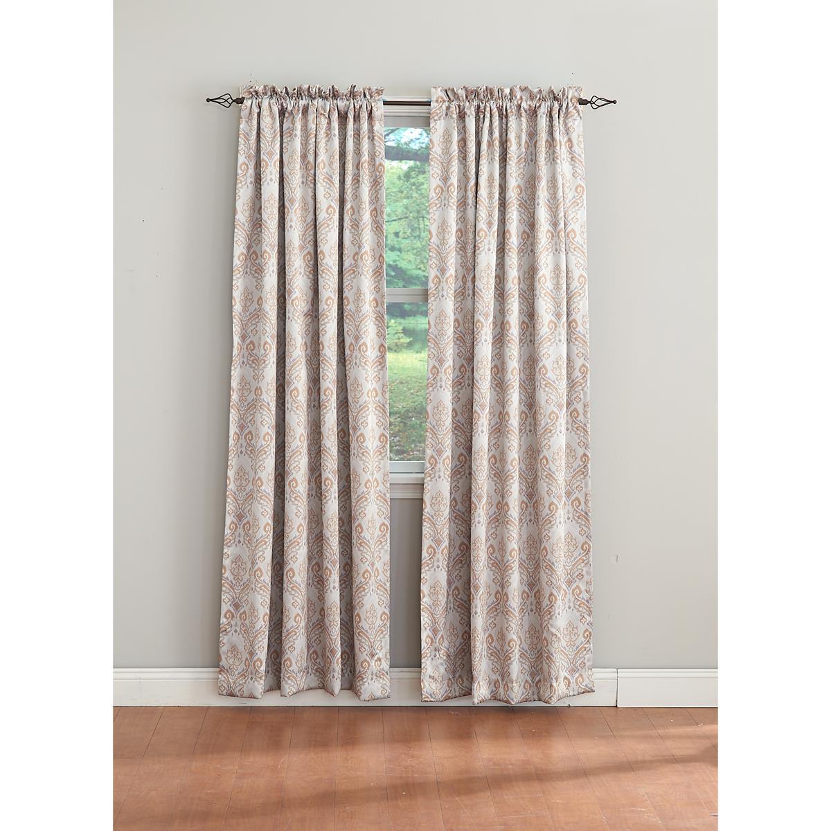 Damask Blackout Rod Pocket Curtain Panel Inside Most Current Rod Pocket Curtain Panels (View 18 of 20)