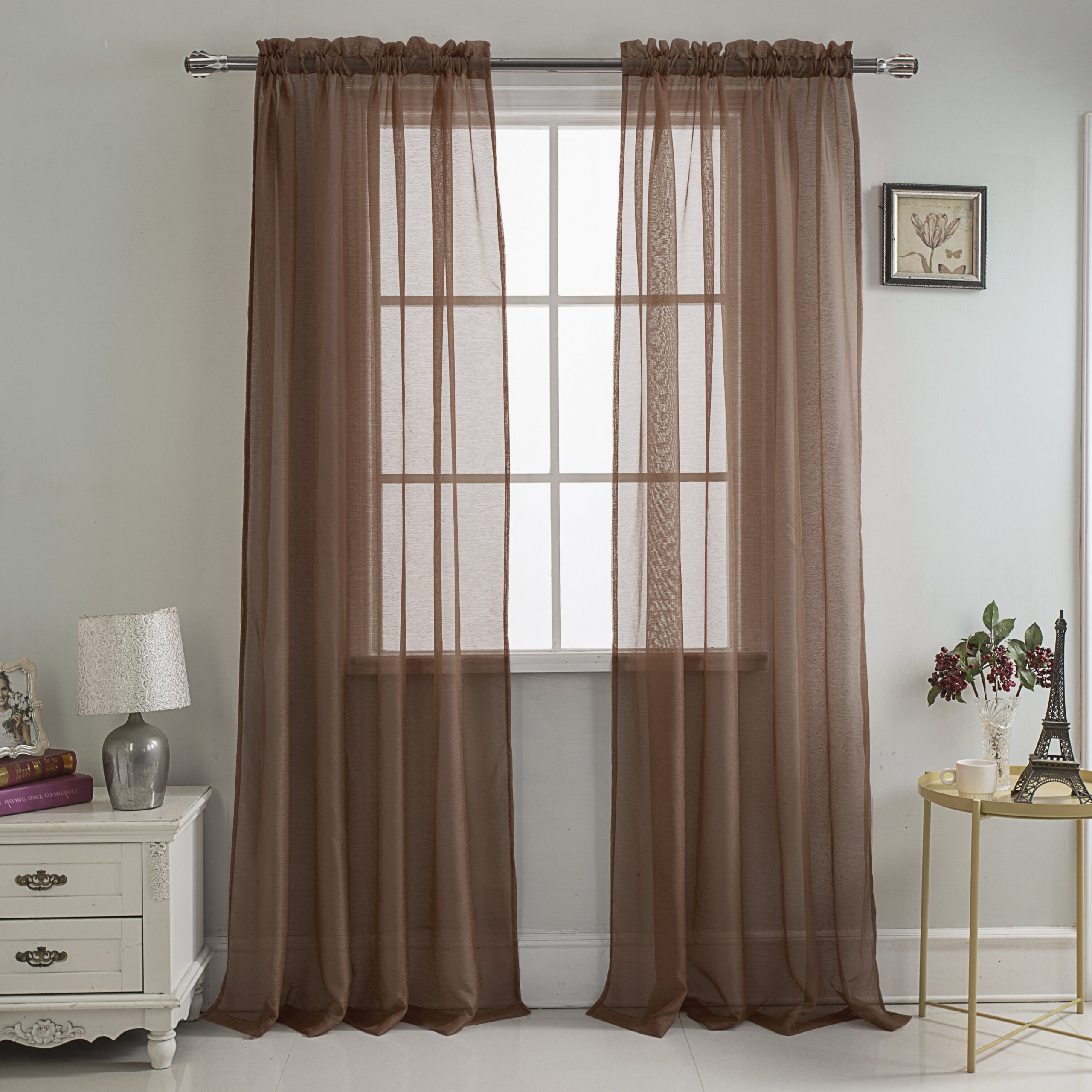 Daron Solid Sheer Rod Pocket Single Curtain Panel Throughout Fashionable Arm And Hammer Curtains Fresh Odor Neutralizing Single Curtain Panels (View 20 of 20)