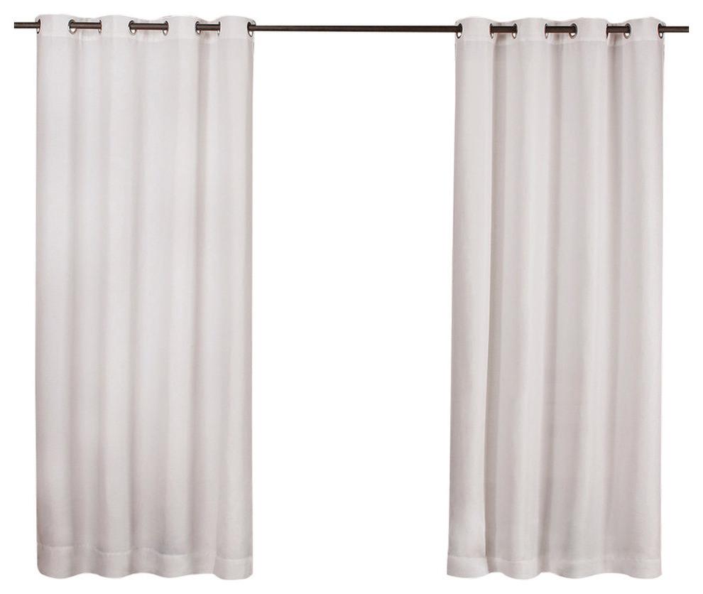 "Delano Indoor/outdoor Grommet Top Curtain Panel Pairs For Latest Delano Indoor/outdoor Heavy Grommet Top Curtains, 54""x84"", White, Set Of (View 6 of 20)"