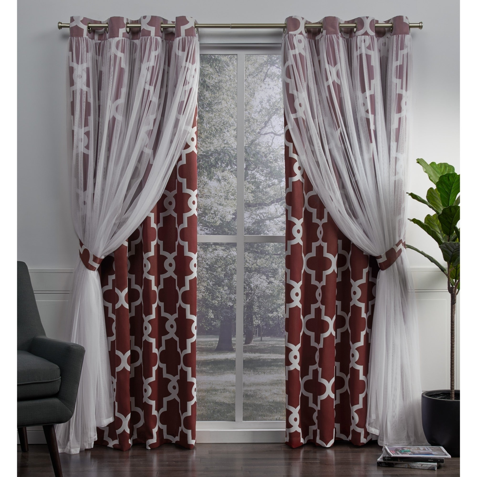 Details About Ati Home Alegra Thermal Woven Blackout Grommet Top Curtain Pertaining To Most Current Woven Blackout Curtain Panel Pairs With Grommet Top (View 8 of 20)