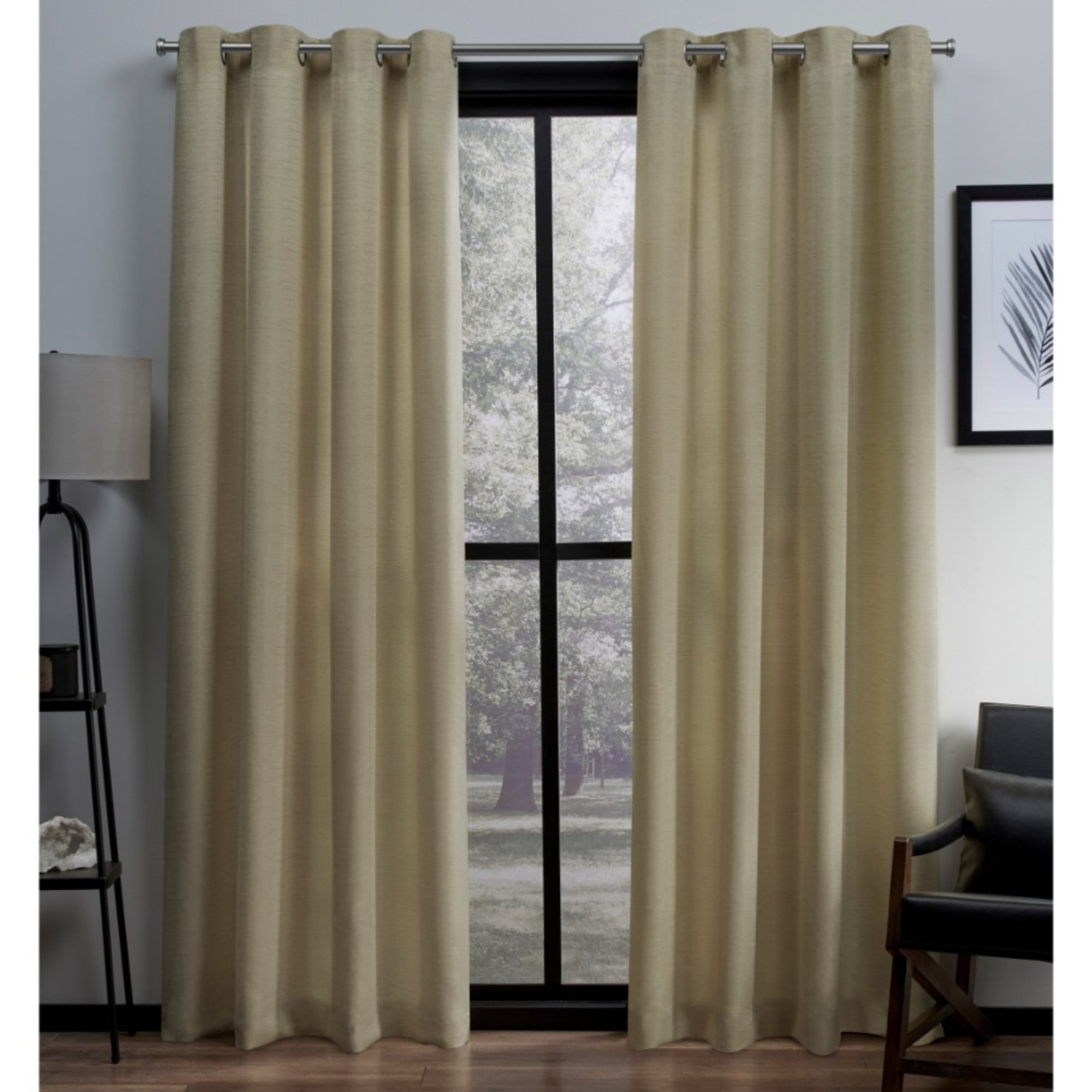 Details About Copper Grove Ashclyst Faux Silk Grommet Top Window Curtain In Most Popular Copper Grove Speedwell Grommet Window Curtain Panels (View 11 of 20)
