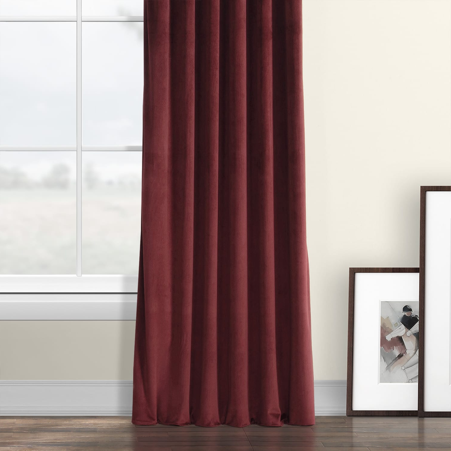 Details About Heritage Plush Velvet Curtain (Sold Per Panel) In Most Popular Heritage Plush Velvet Curtains (View 5 of 20)