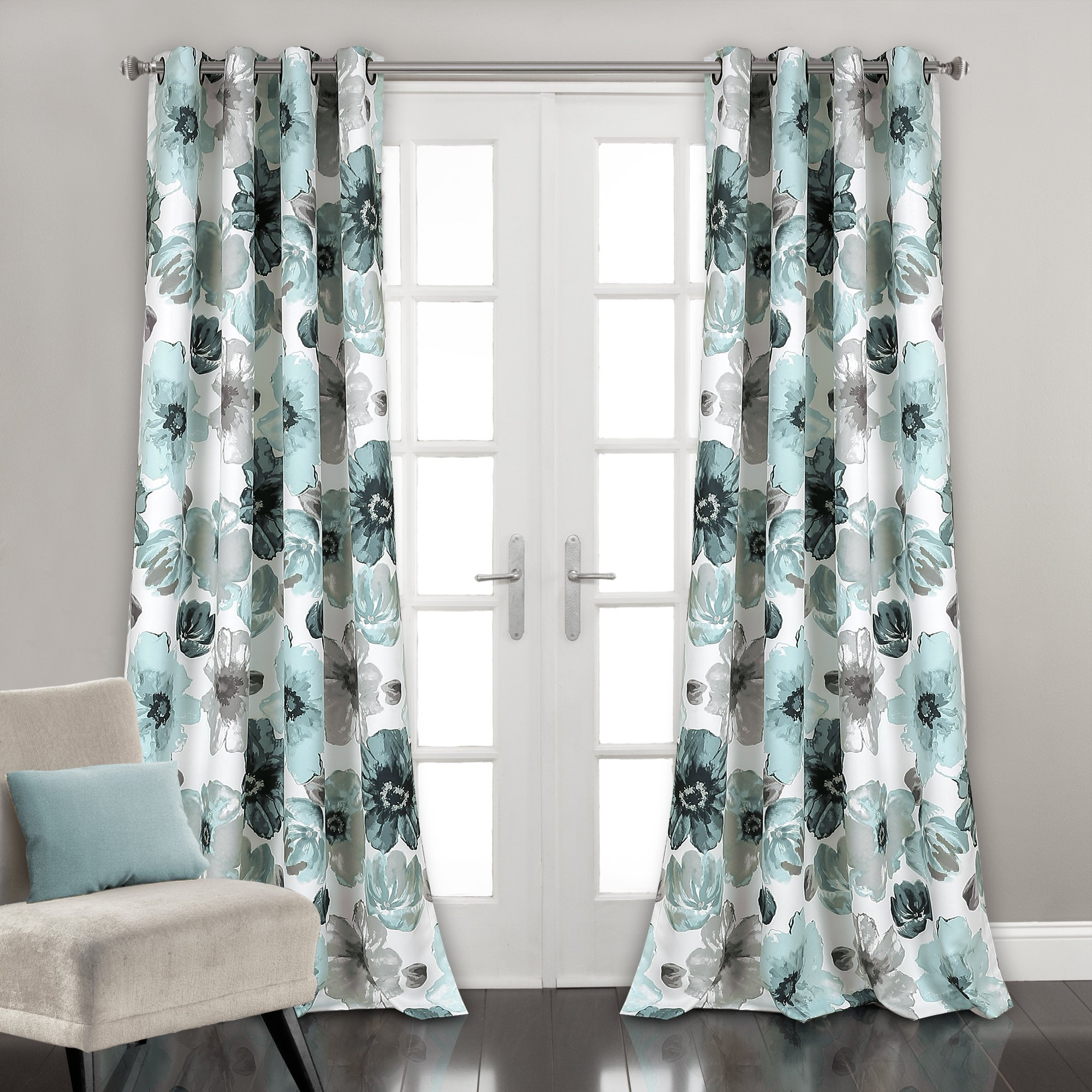"""Details About Lush Decor Lush Décor Leah Room Darkening Window Curtain, Panel Pair 84"""" X 52"""", With Regard To Most Recently Released Julia Striped Room Darkening Window Curtain Panel Pairs (View 6 of 20)"""