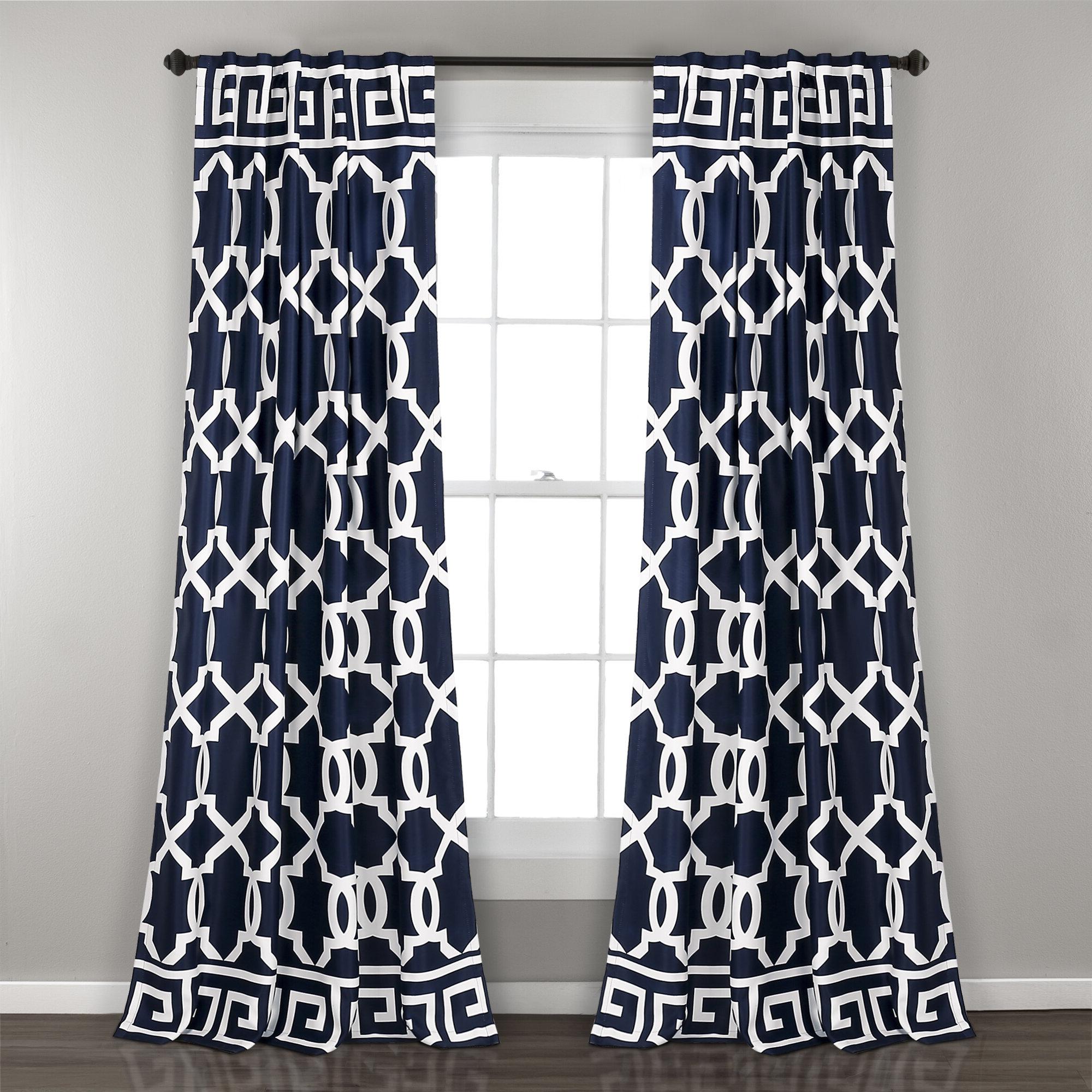 Details About Mercer41 Schum Geometric Room Darkening Indoor/outdoor Rod Pocket Panel Pair In Most Current Nantahala Rod Pocket Room Darkening Patio Door Single Curtain Panels (View 14 of 20)