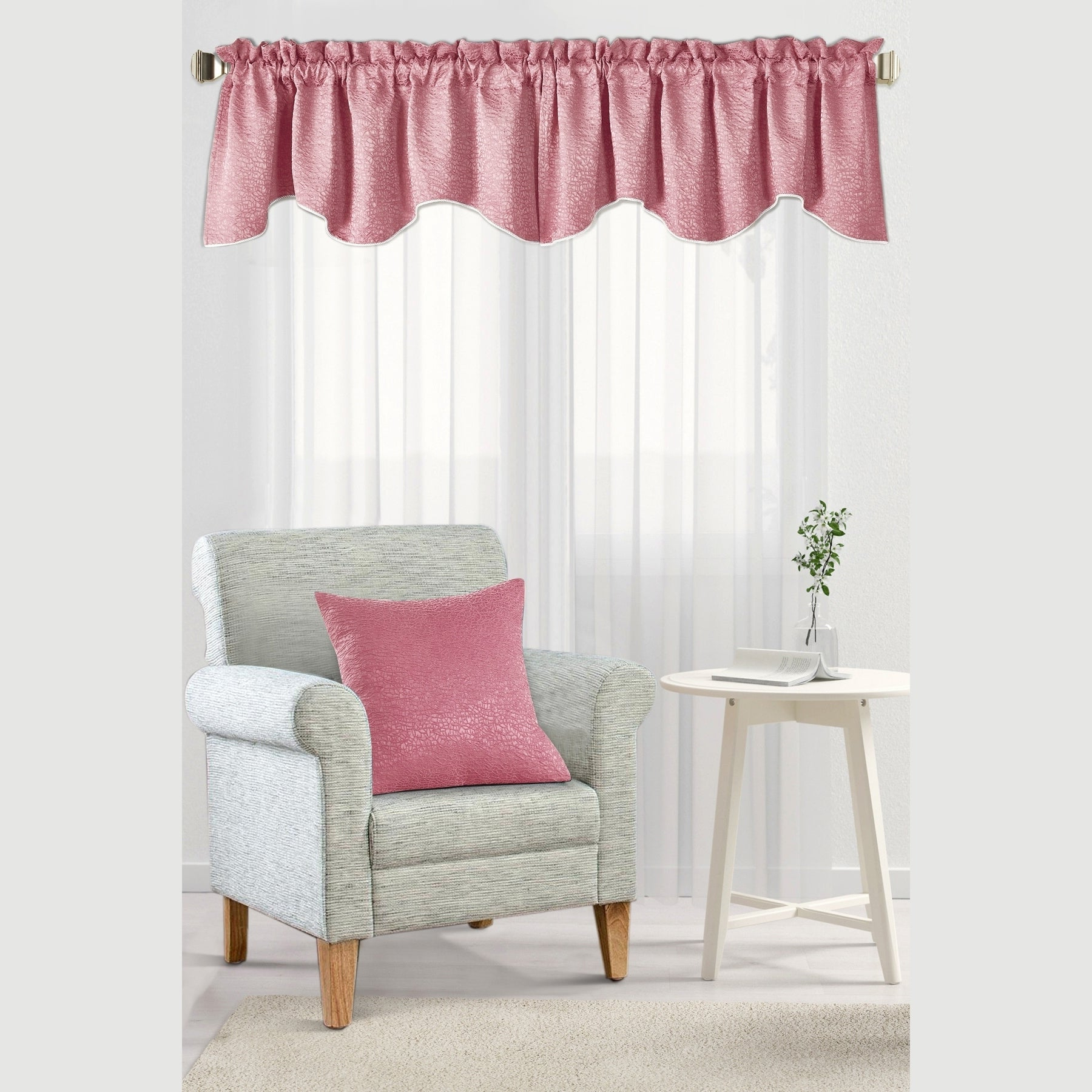 Details About The Curated Nomad Peralta Jacquard Chenille Window Valance & Pertaining To Popular The Curated Nomad Duane Jacquard Grommet Top Curtain Panel Pairs (View 12 of 21)
