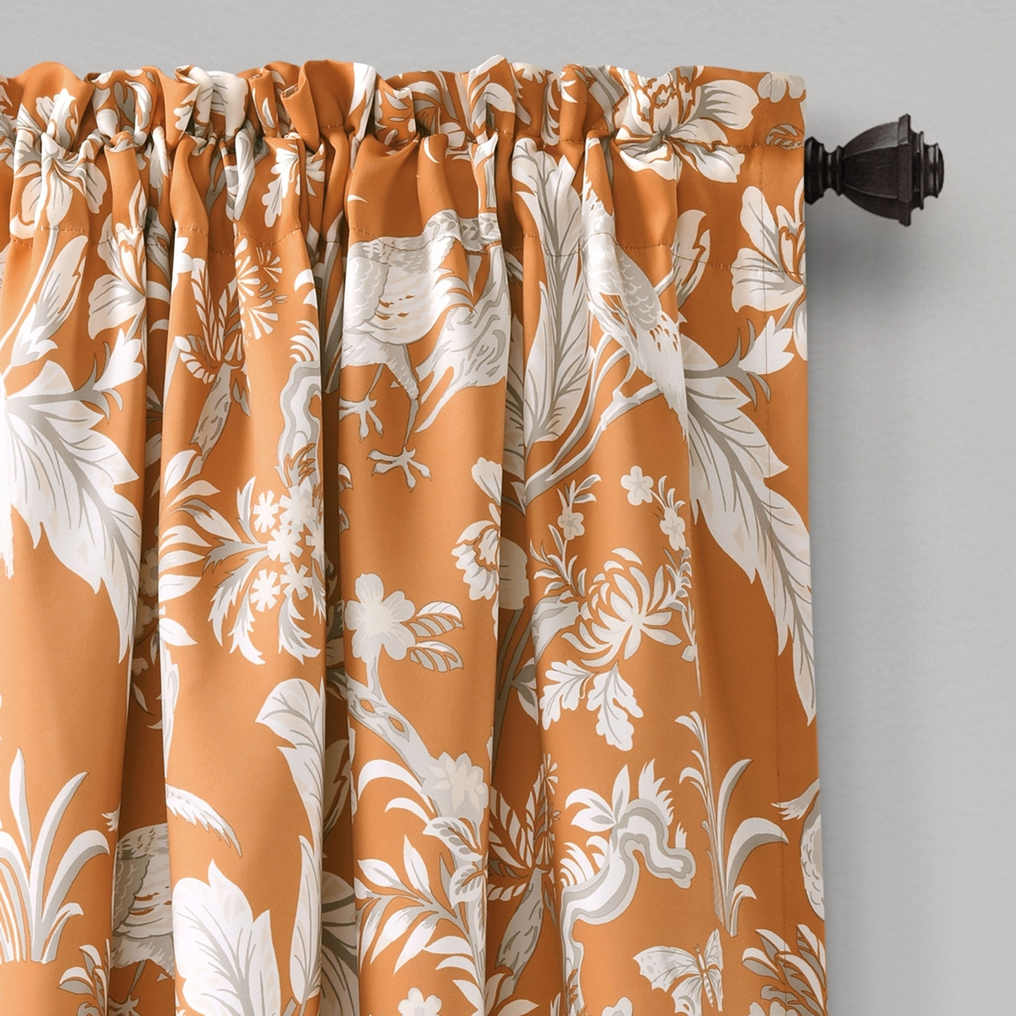 Dolores Room Darkening Floral Curtain Panel Pairs Inside Well Known Lush Decor Dolores Room Darkening Floral Curtain Panel Pair (View 8 of 20)