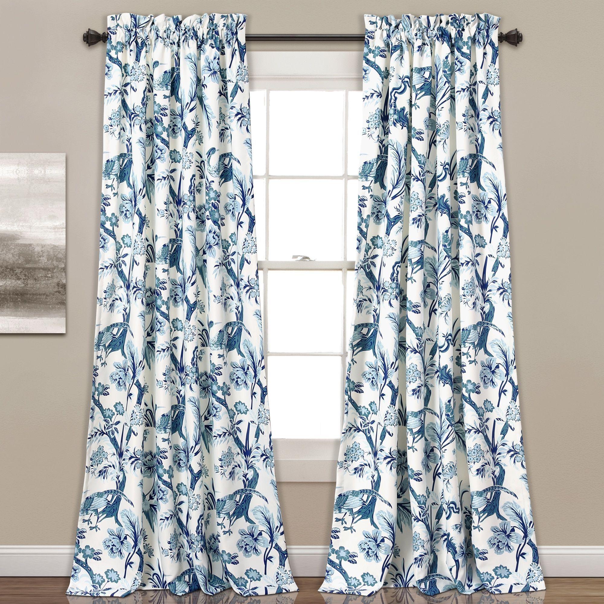 Dolores Room Darkening Floral Curtain Panel Pairs Regarding Latest Lush Decor Dolores Room Darkening Floral Curtain Panel Pair (View 6 of 20)