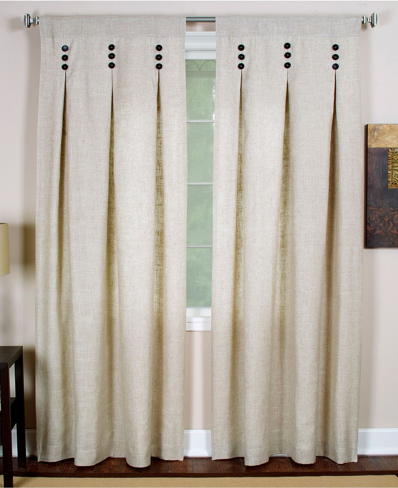 Drape It Inside Famous Linen Button Window Curtains Single Panel (View 12 of 20)