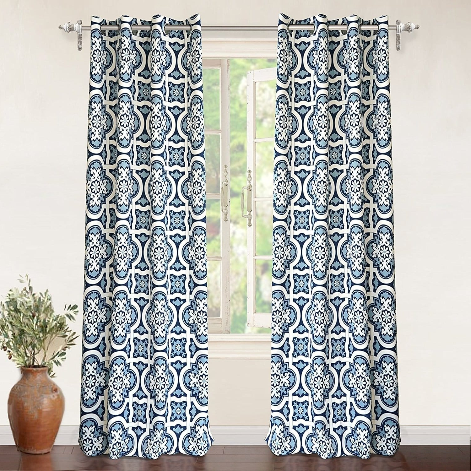 Driftaway Floral Trellis Room Darkening Window Curtain Panel Within Most Up To Date Floral Pattern Room Darkening Window Curtain Panel Pairs (View 8 of 20)