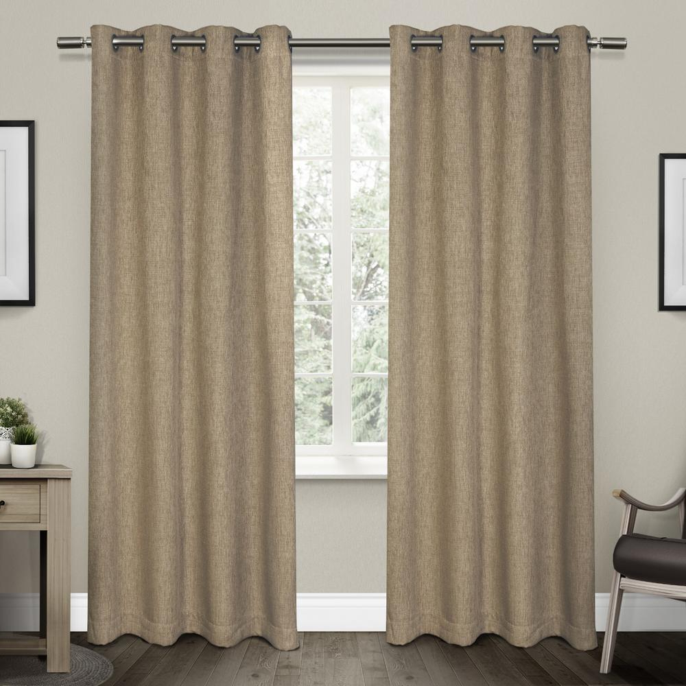 Easton Thermal Woven Blackout Grommet Top Curtain Panel Pairs For Well Known Vesta 52 In. W X 96 In (View 16 of 20)