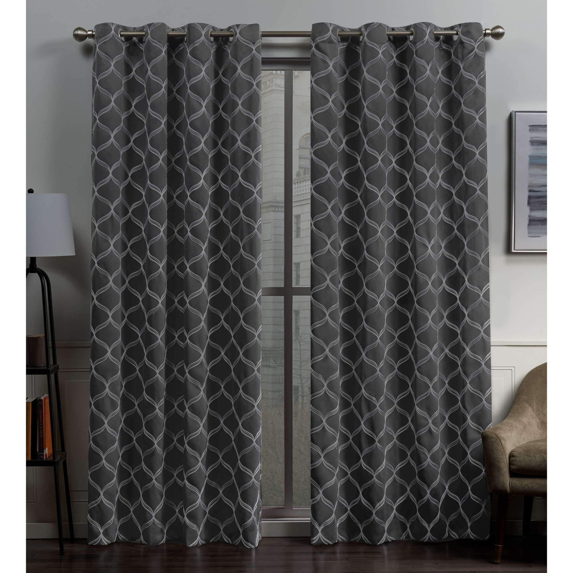 Easton Thermal Woven Blackout Grommet Top Curtain Panel Pairs Inside Current Ati Home Amelia Woven Blackout Grommet Top Curtain Panel (View 15 of 20)
