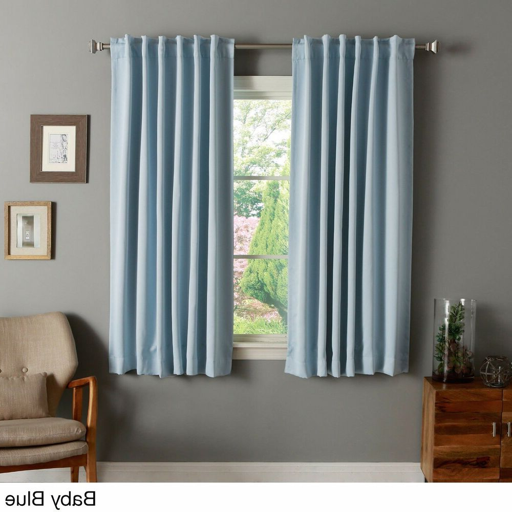 Ebay For Famous Solid Thermal Insulated Blackout Curtain Panel Pairs (View 8 of 20)