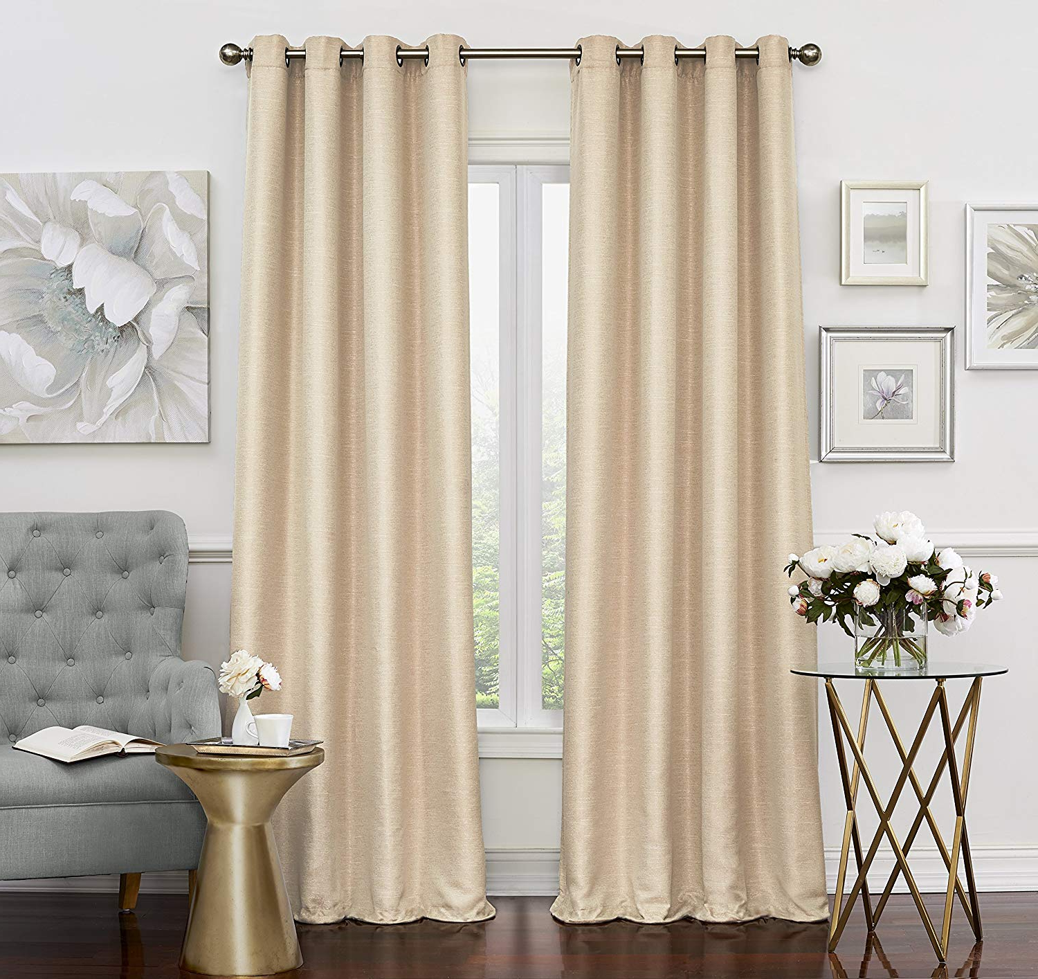 Eclipse Caprese Thermalayer Blackout Window Curtains With Regard To Well Known Eclipse Luxor Thermal Layer Blackout Window Panel 52X84 Champagne (Gallery 15 of 20)