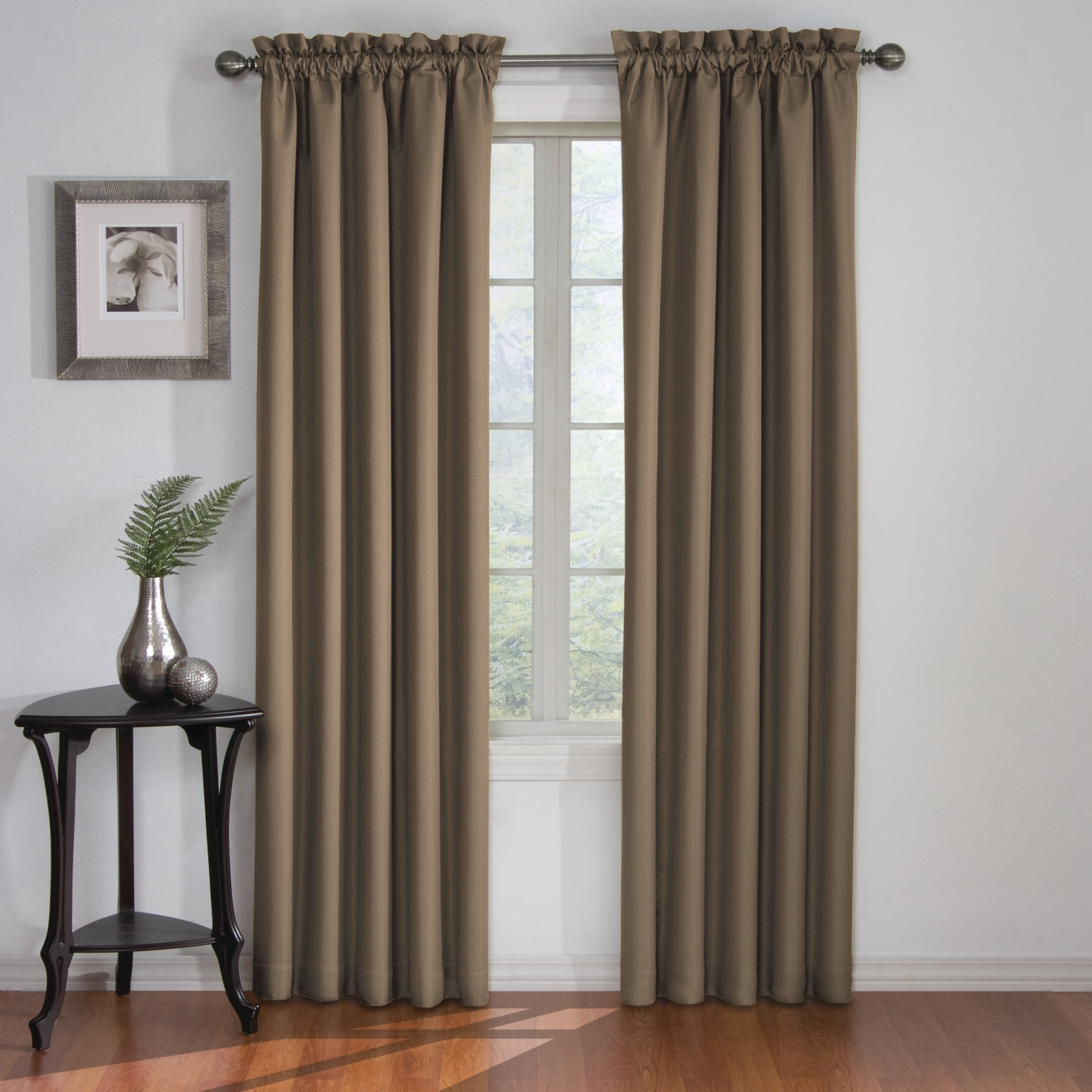 Eclipse Corinne Thermaback Curtain Panels For Trendy Eclipse Corinne Thermaback Curtain Panel (View 2 of 20)