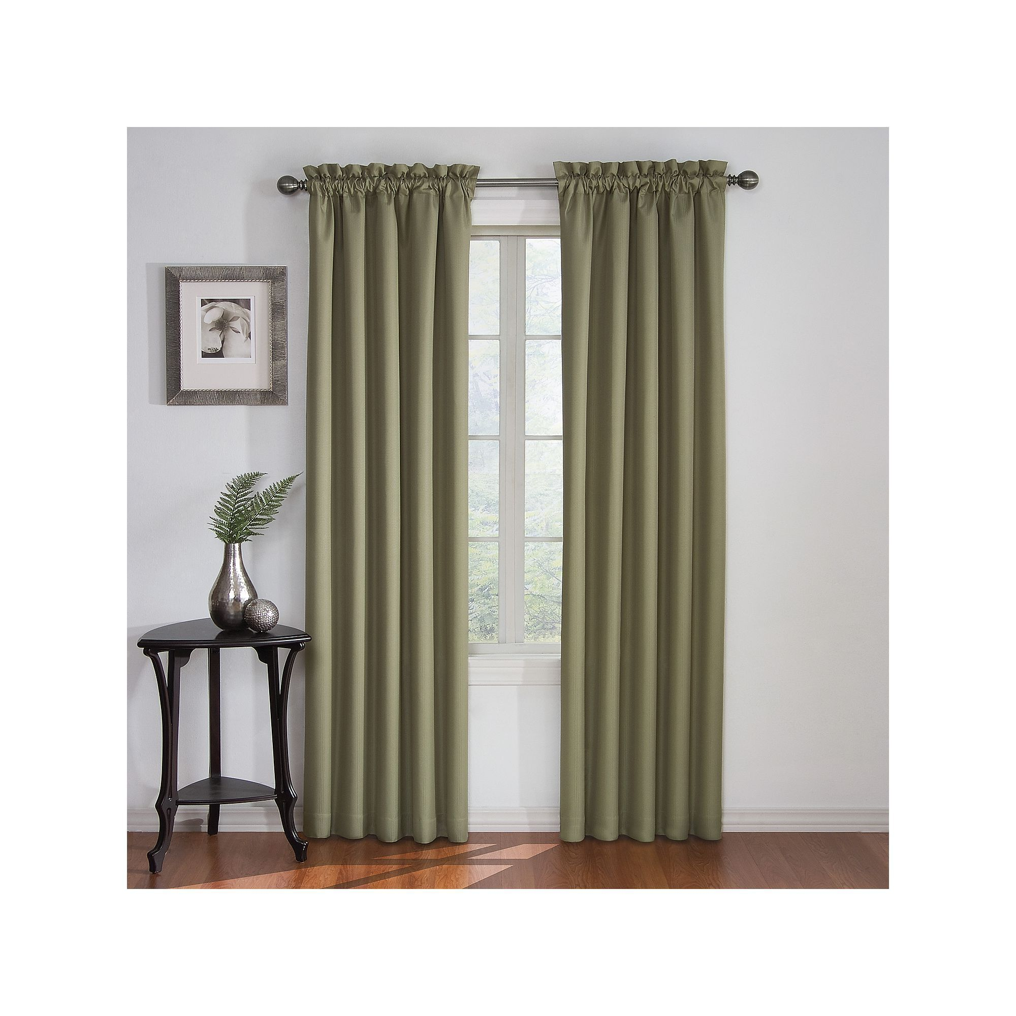 Eclipse Corinne Thermaback Curtain Panels Intended For Well Known Eclipse Corinne Thermaback Blackout Curtain, Green (View 8 of 20)