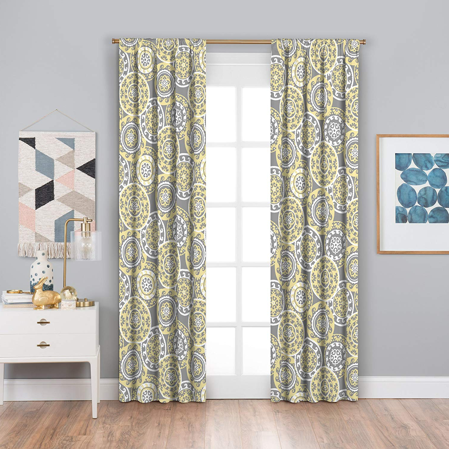 Eclipse Curtains Thermaback Blackout Window Curtain, Yellow With Regard To Favorite Thermaback Blackout Window Curtains (Gallery 1 of 20)