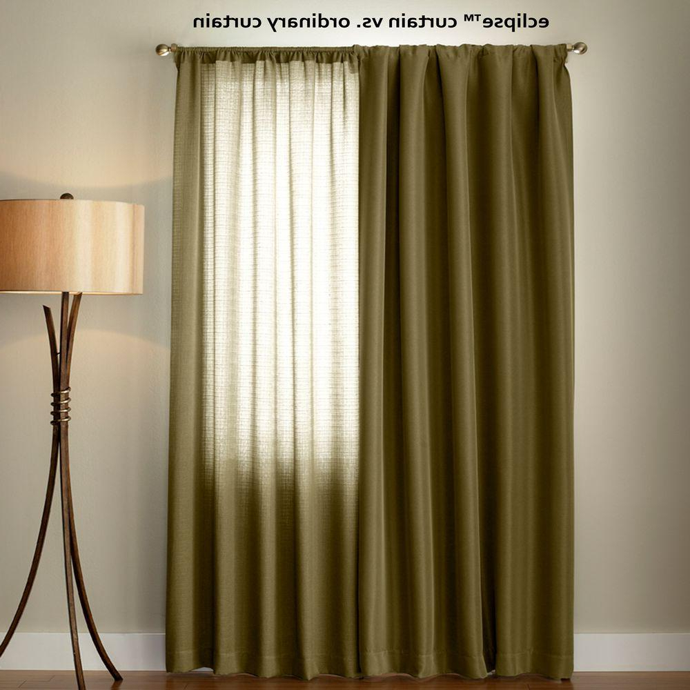 Eclipse Dane Blackout Window Curtain Panel In Smoke – 52 In. W X 84 In (View 9 of 20)