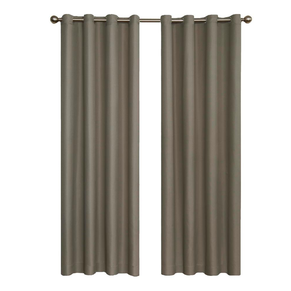 Eclipse Dane Blackout Window Curtain Panel In Smoke – 52 In. W X 95 In. L Regarding Famous Hayden Grommet Blackout Single Curtain Panels (Gallery 13 of 20)