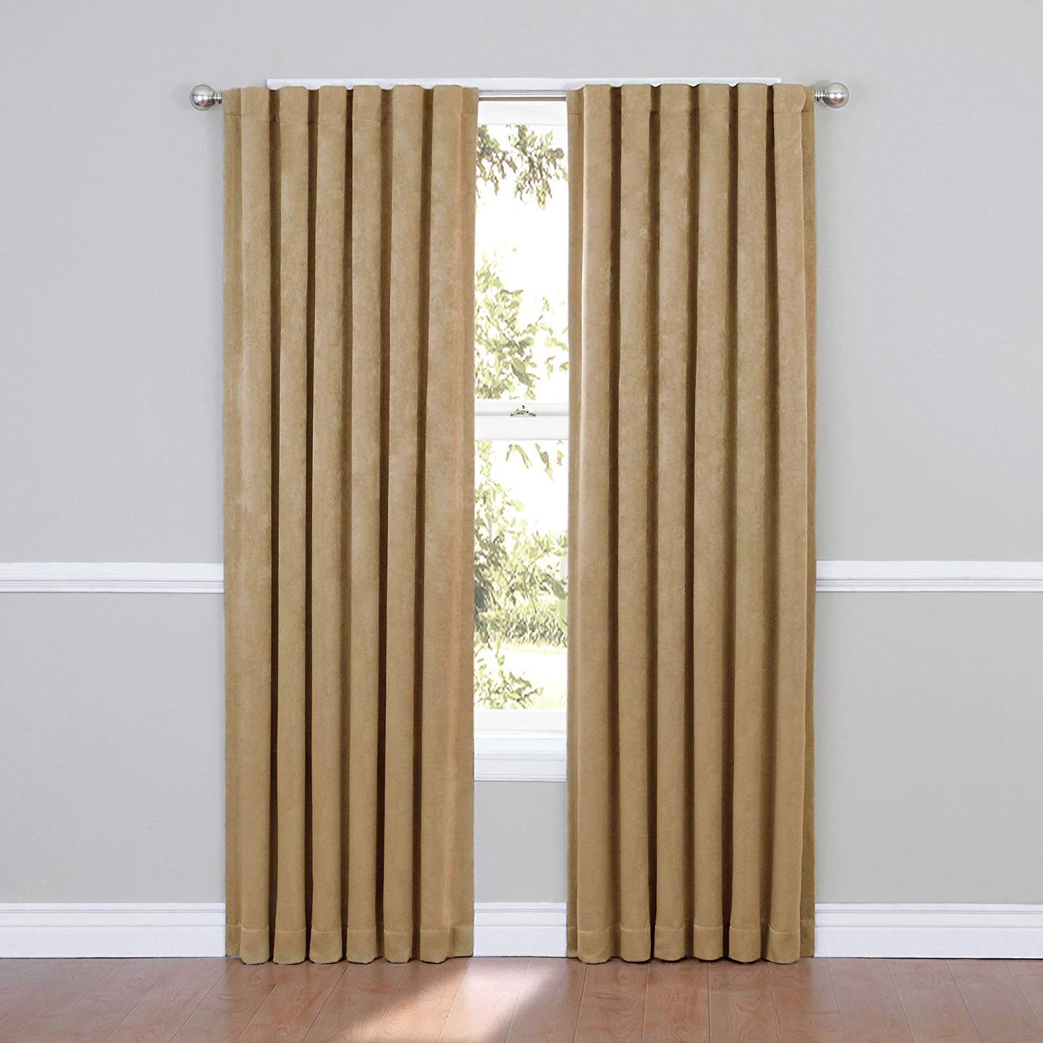 Eclipse Ella Blackout Window Curtain Panel, 95 Inch, Cafe Within 2021 Ella Window Curtain Panels (Gallery 20 of 20)