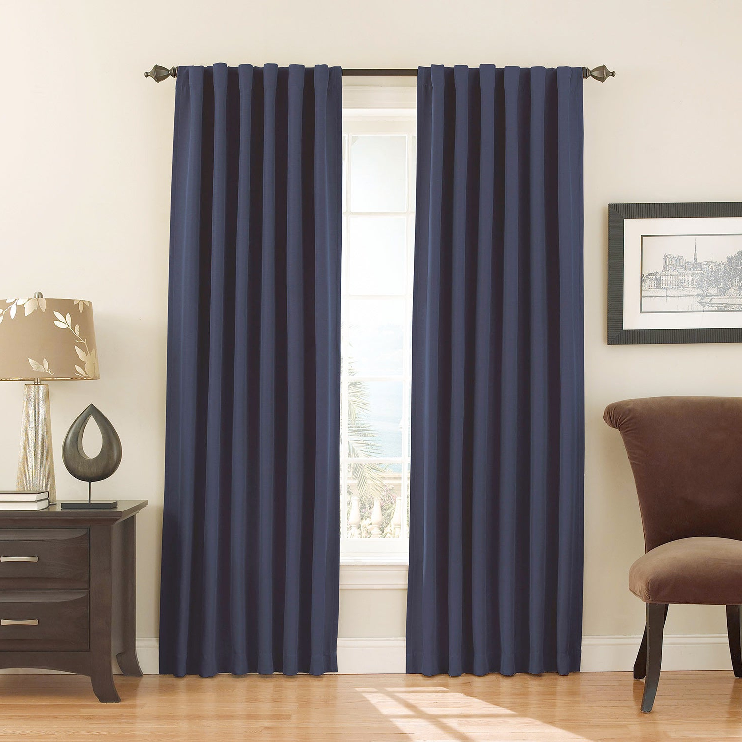 Eclipse Fresno Blackout Window Curtain Panel Throughout Latest Thermaback Blackout Window Curtains (View 6 of 20)