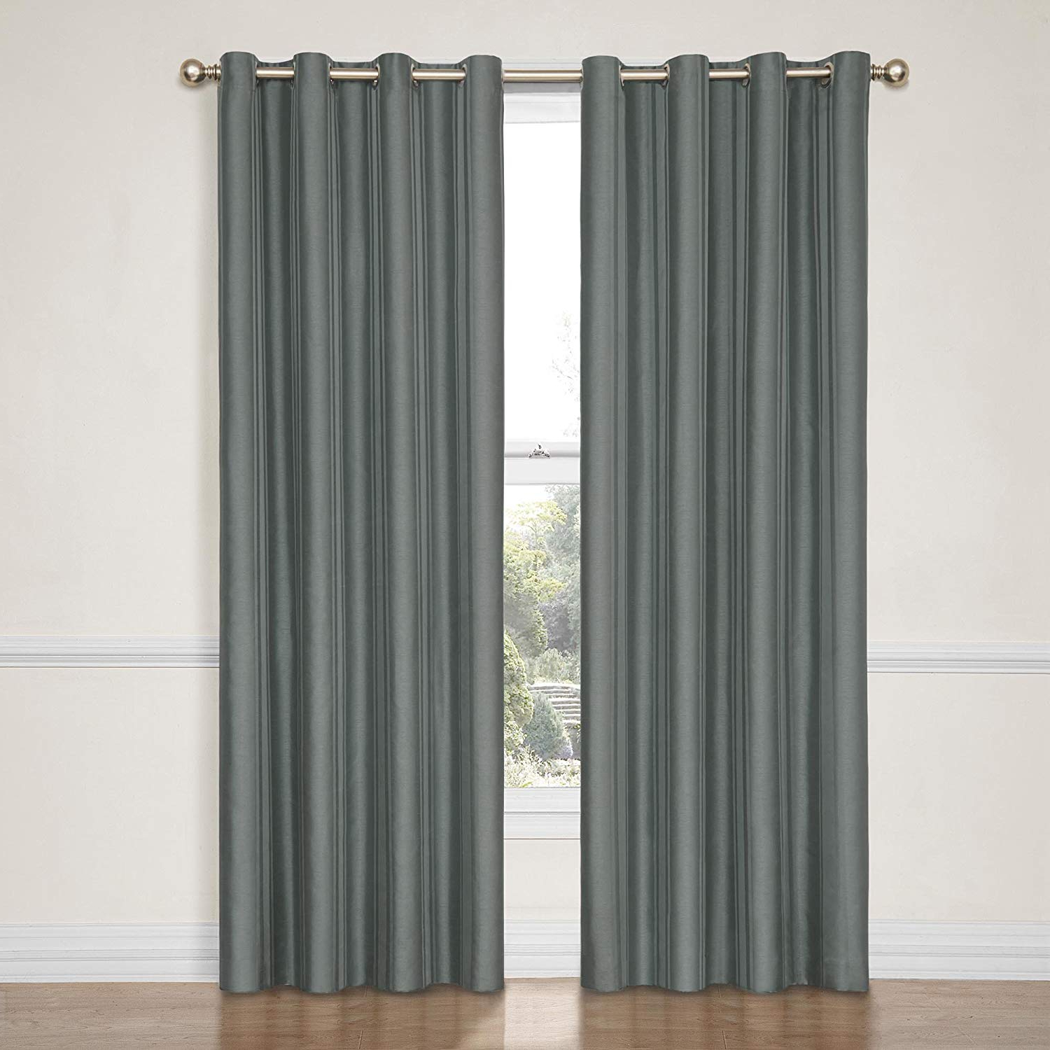 Eclipse Hayden Solid Blackout Window Curtain Panel, 4284 Inch, Blue Throughout Well Liked Hayden Rod Pocket Blackout Panels (View 6 of 20)