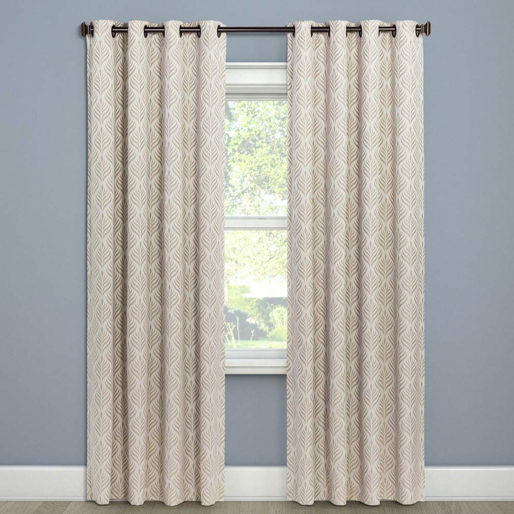 """[%Eclipse Howell Curtain Panels, 52"""" X 84"""", Latte – 100% Polyester Throughout Recent Davis Patio Grommet Top Single Curtain Panels