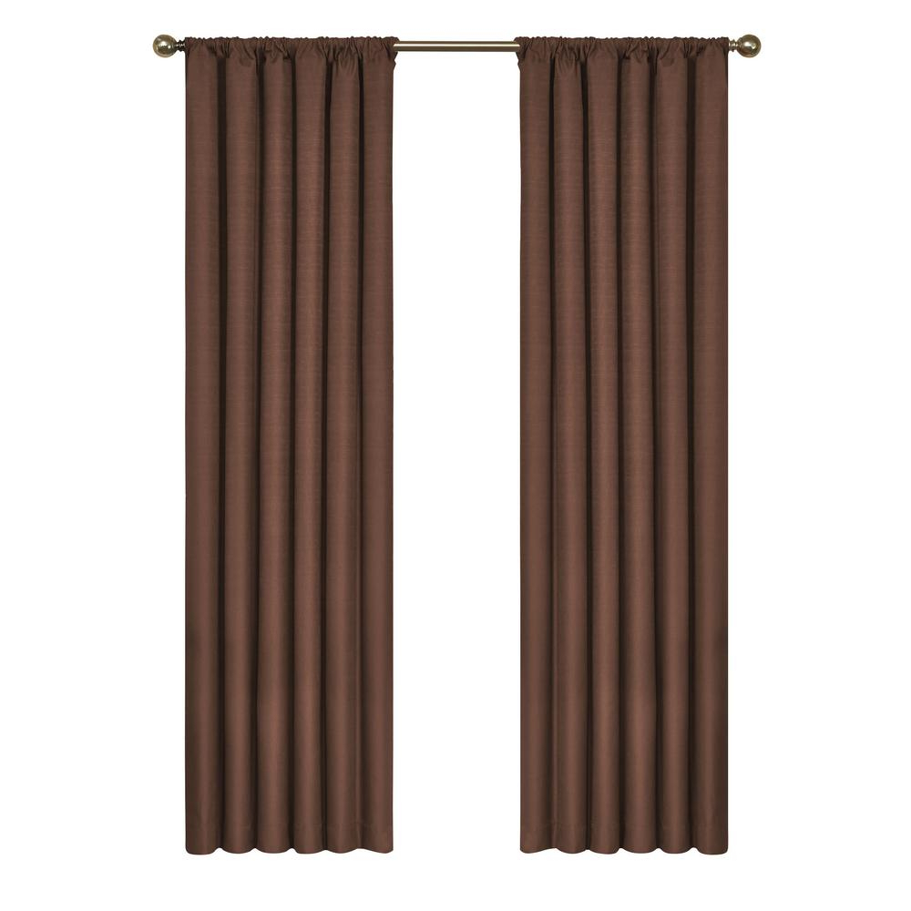 Eclipse Kendall Blackout Window Curtain Panel In Chocolate – 42 In. W X 84 In (View 2 of 20)