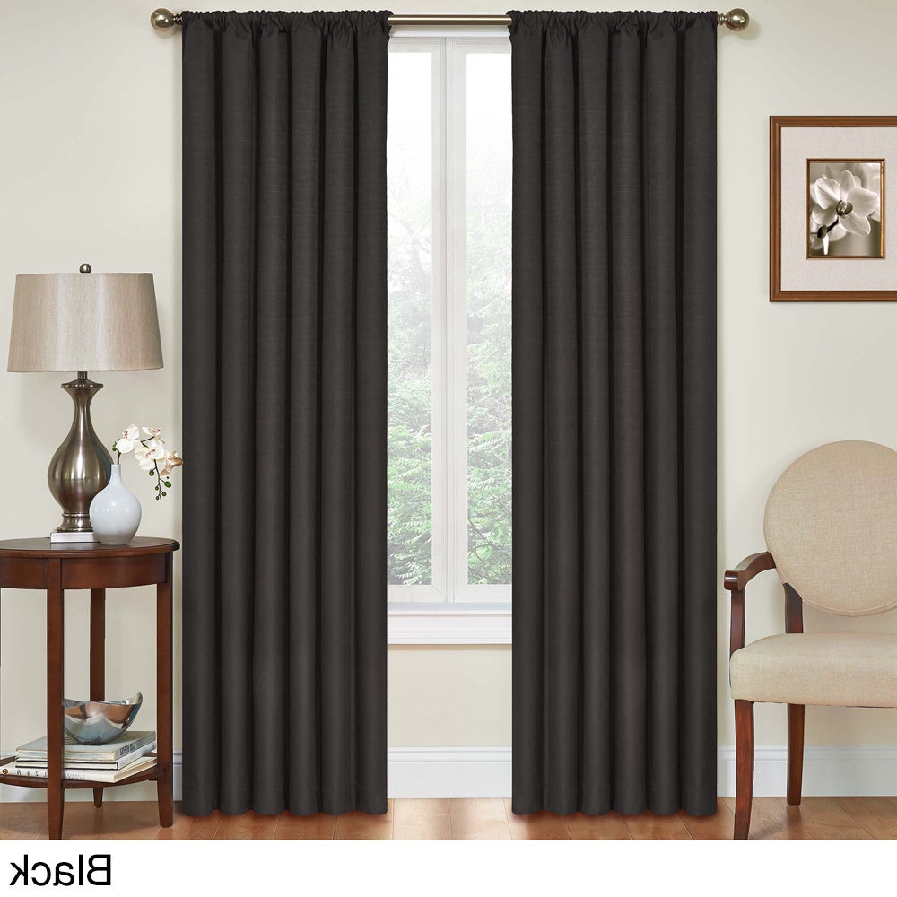 Eclipse Kendall Blackout Window Curtain Panels Pertaining To Famous Details About Eclipse Kendall Blackout Window Curtain Panel (View 13 of 20)