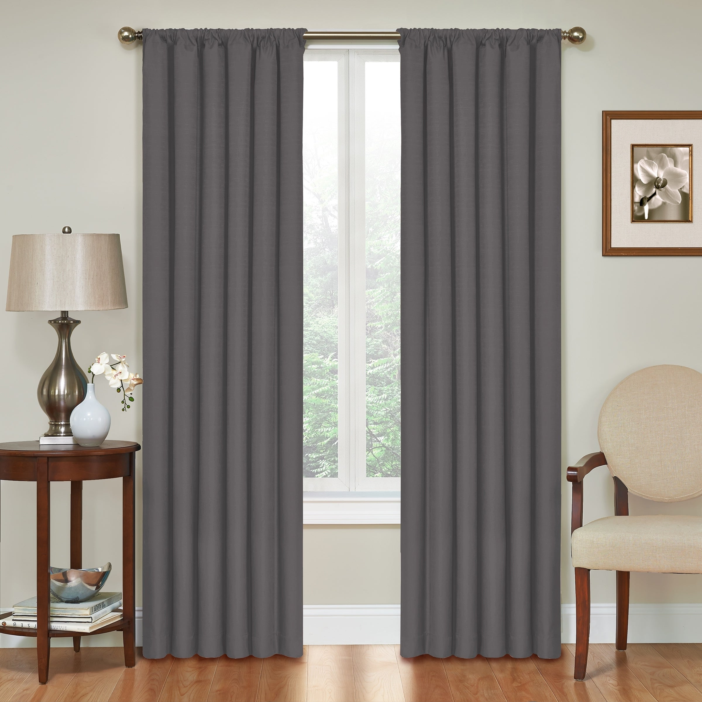 Eclipse Kendall Blackout Window Curtain Panels Pertaining To Most Up To Date Eclipse Kendall Blackout Window Curtain Panel (Gallery 1 of 20)