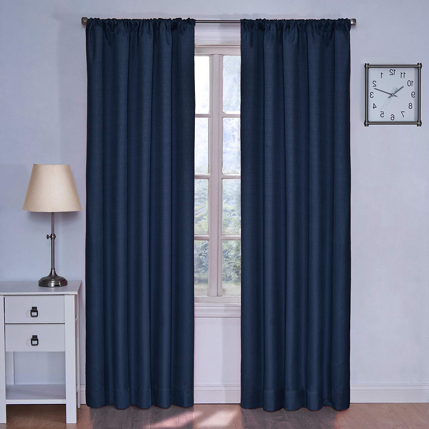 Eclipse Kendall Blackout Window Curtain Panels With Favorite Eclipse Kids Kendall Blackout Thermal Curtain Panel,denim, 42 Inch X 63 Inch (View 15 of 20)