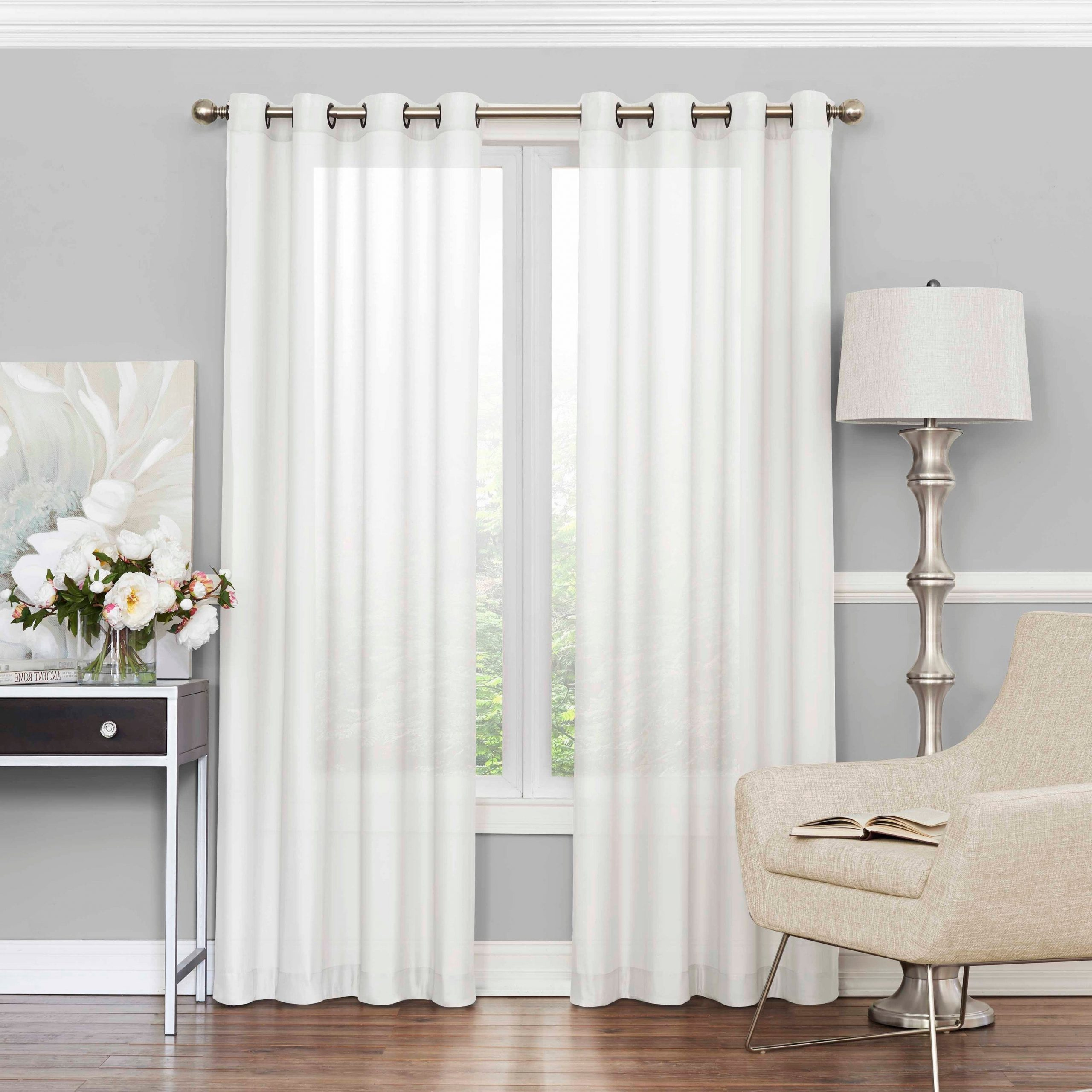 Eclipse Liberty Light Filtering Sheer Single Curtain Panel Throughout Widely Used Light Filtering Sheer Single Curtain Panels (Gallery 2 of 20)