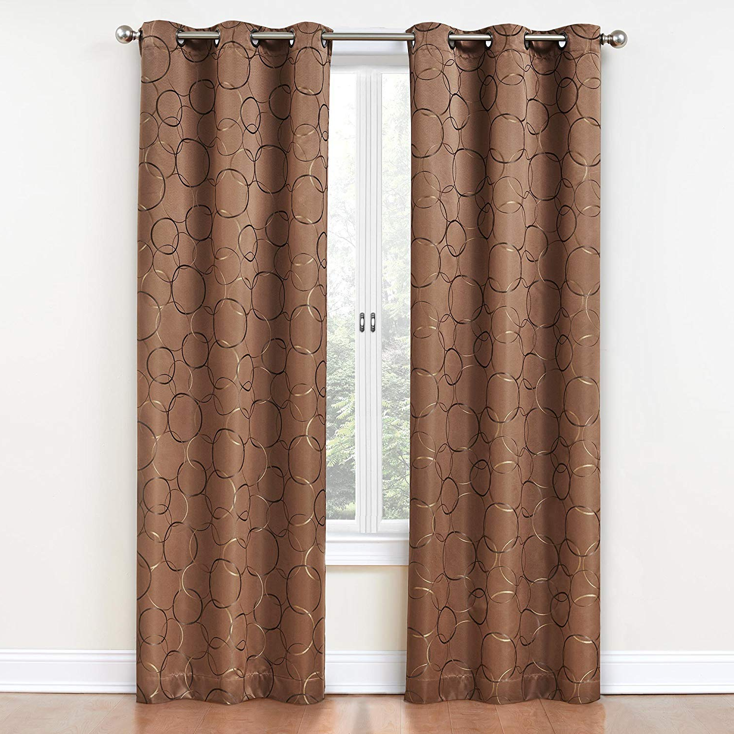 """Eclipse Meridian Blackout Window Curtain Panel, 84"""", Spice Pertaining To Best And Newest Meridian Blackout Window Curtain Panels (View 10 of 20)"""