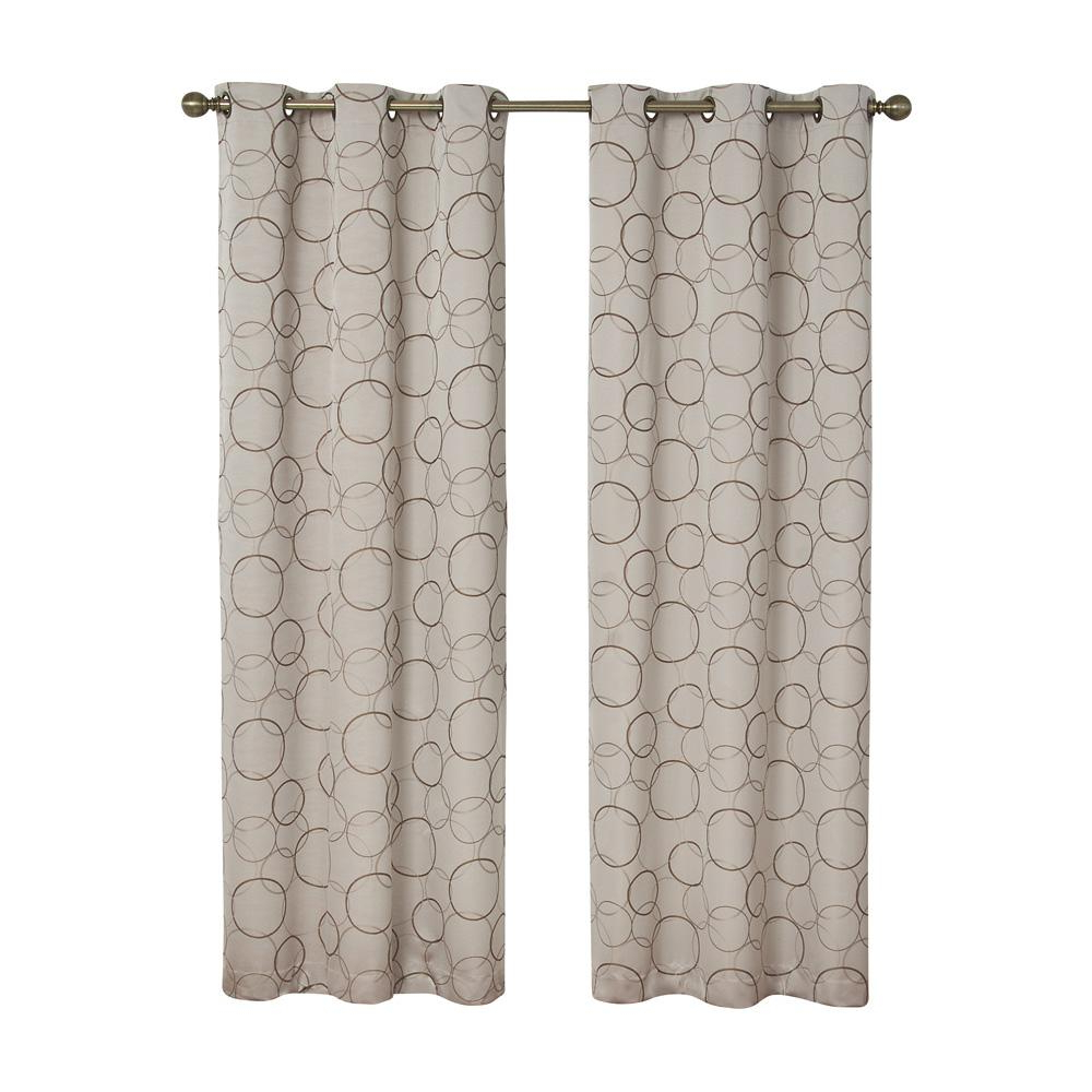 Eclipse Meridian Blackout Window Curtain Panel In Linen – 42 In. W X 95 In (View 8 of 20)