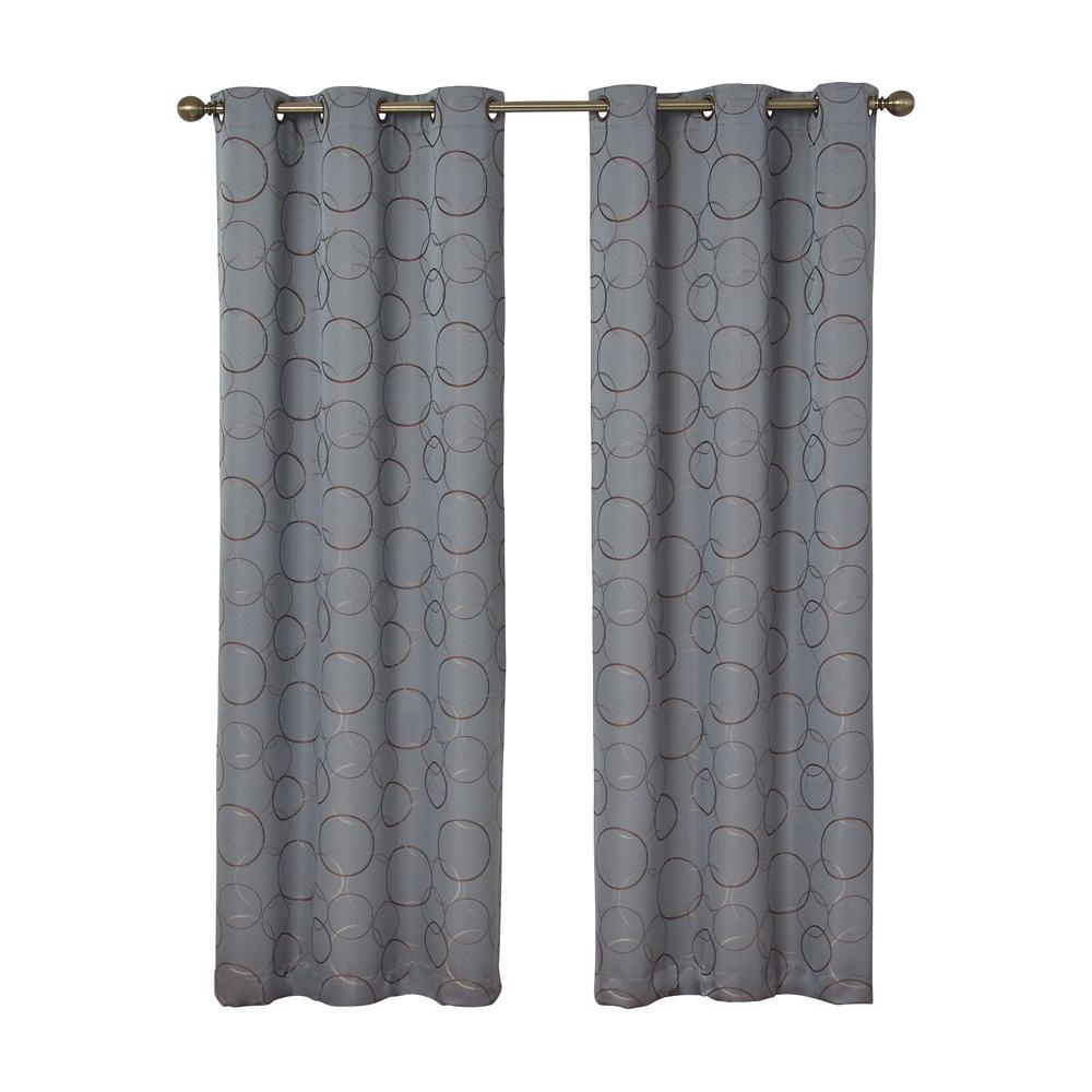 Eclipse Meridian Blackout Window Curtain Panel In River Blue – 42 In. W X 84 In (View 14 of 20)
