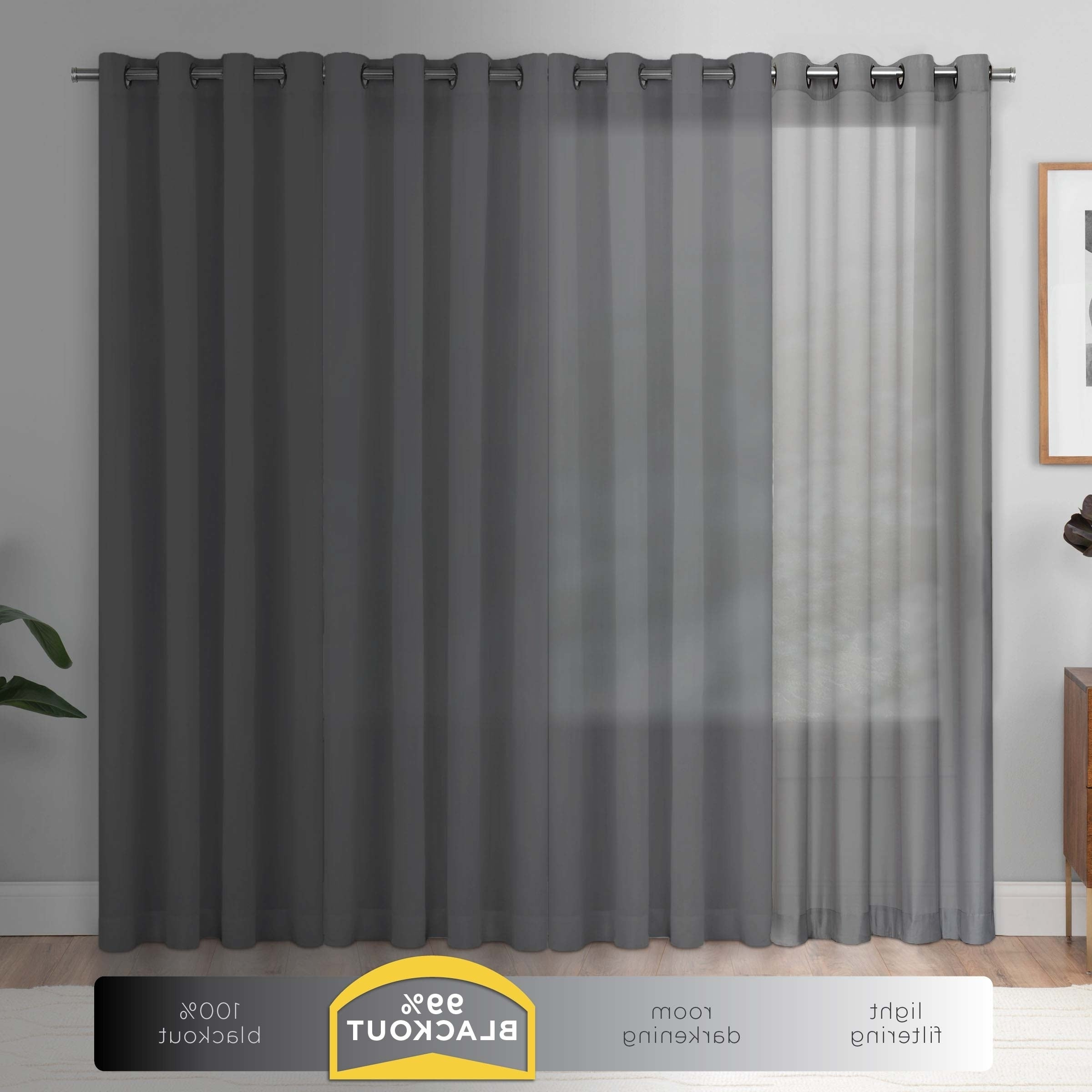 Eclipse Newport Blackout Curtain Panels With Regard To Fashionable Eclipse Newport Blackout Curtain Panel – 52x (View 7 of 20)