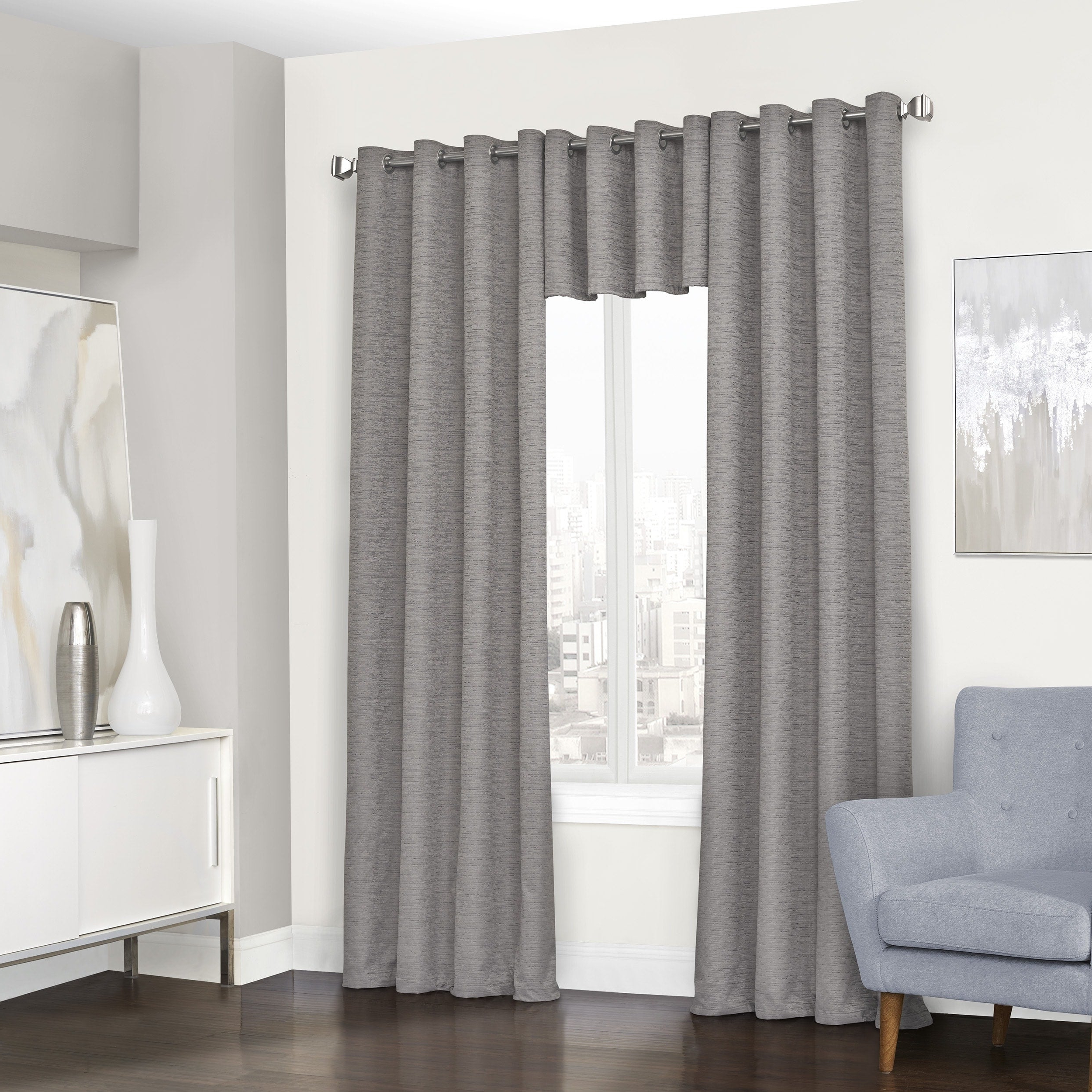 Eclipse Randall Blackout Grommet Window Curtain Panel – N/a For Current Eclipse Trevi Blackout Grommet Window Curtain Panels (View 10 of 20)