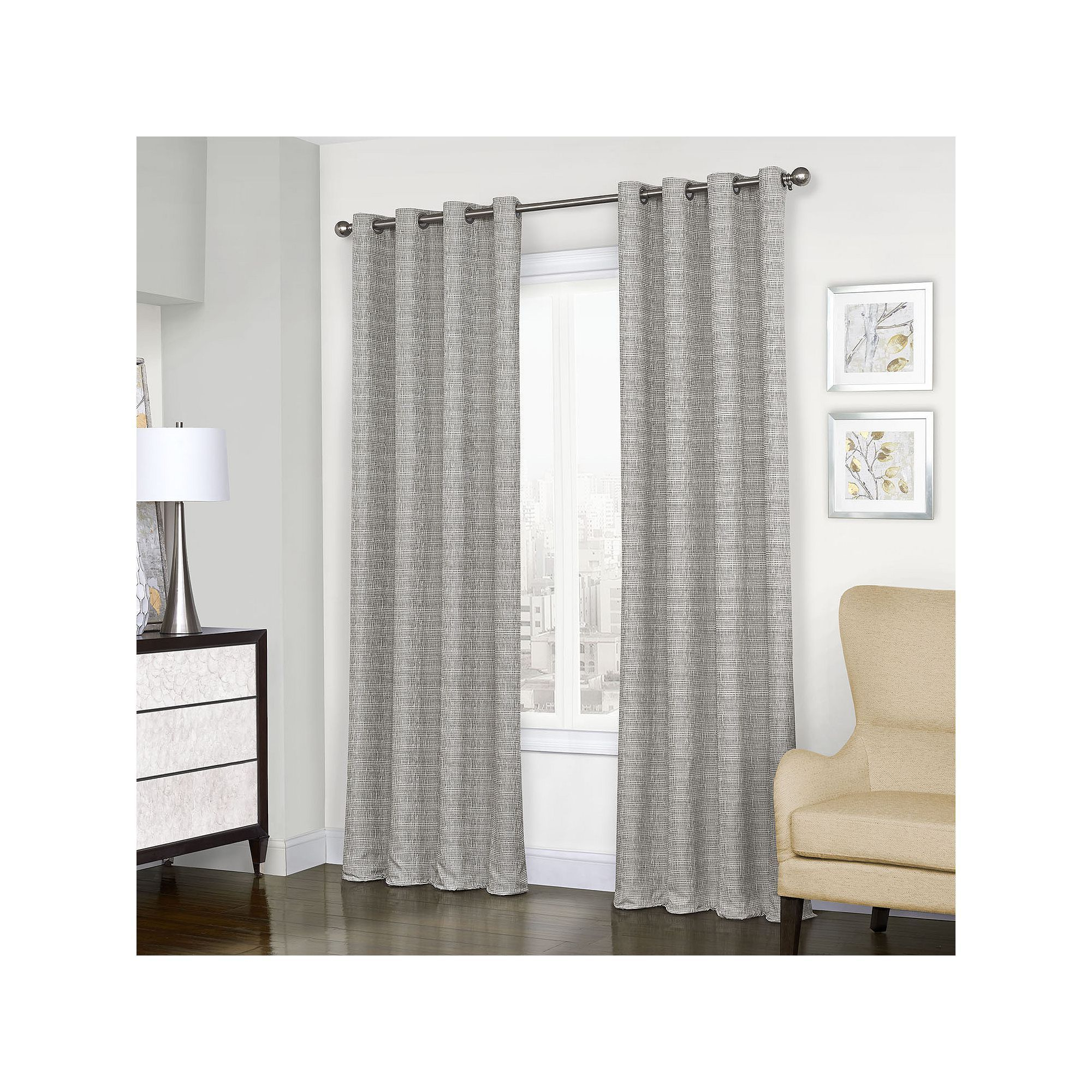 Eclipse Thermalayer Blackout 1 Panel Trevi Window Curtain Inside Current Eclipse Trevi Blackout Grommet Window Curtain Panels (View 3 of 20)