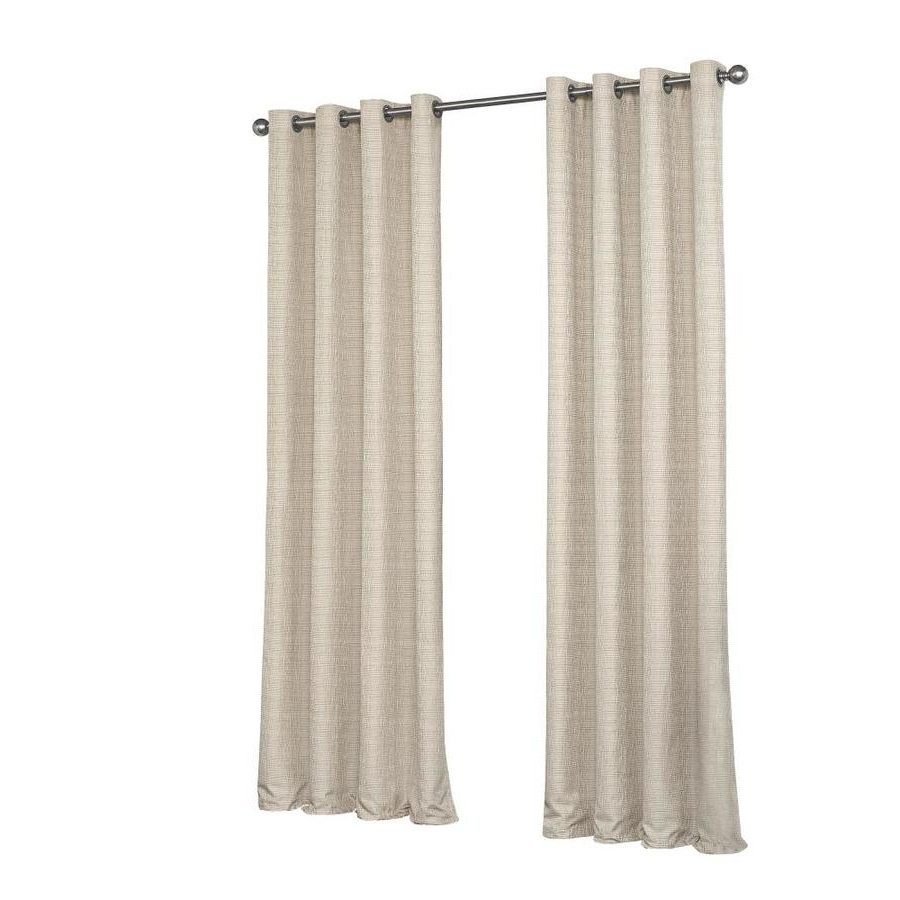 Eclipse Trevi 84 In Natural Polyester Blackout Thermal Lined With Regard To Trendy Eclipse Trevi Blackout Grommet Window Curtain Panels (View 4 of 20)