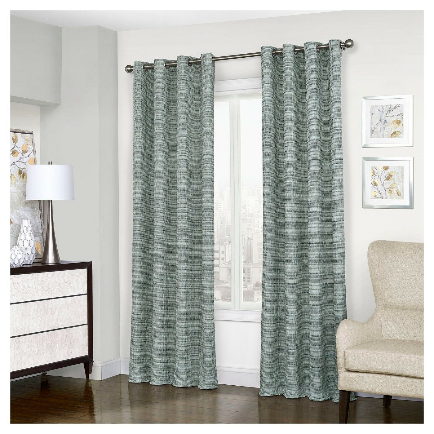 Eclipse Trevi Blackout Grommet Window Curtain Panel Inside Popular Eclipse Trevi Blackout Grommet Window Curtain Panels (Gallery 11 of 20)