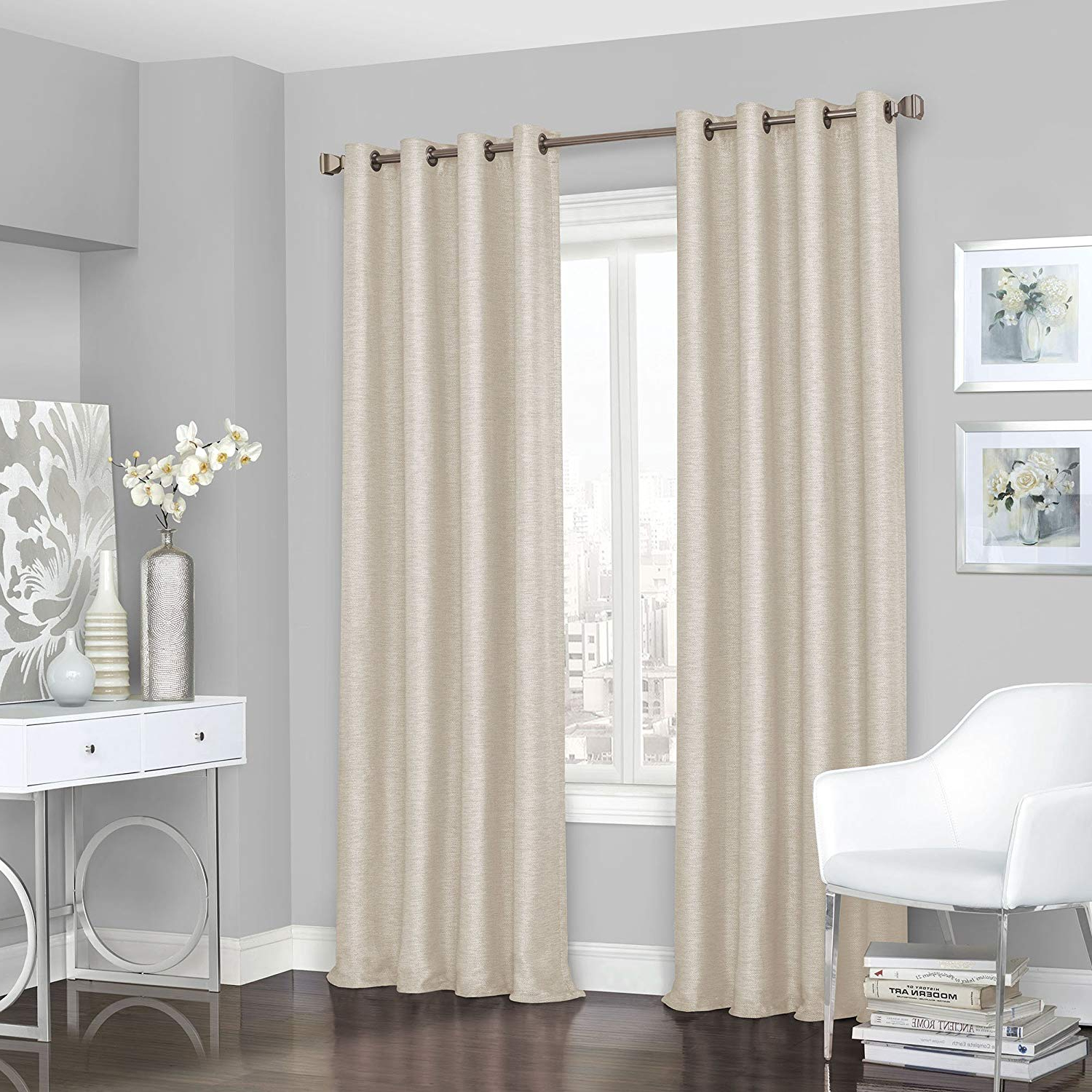 Eclipse Trevi Blackout Grommet Window Curtain Panels In Most Recently Released Amazon: Eclipse 16403052108ivy Presto Blackout Grommet (View 6 of 20)